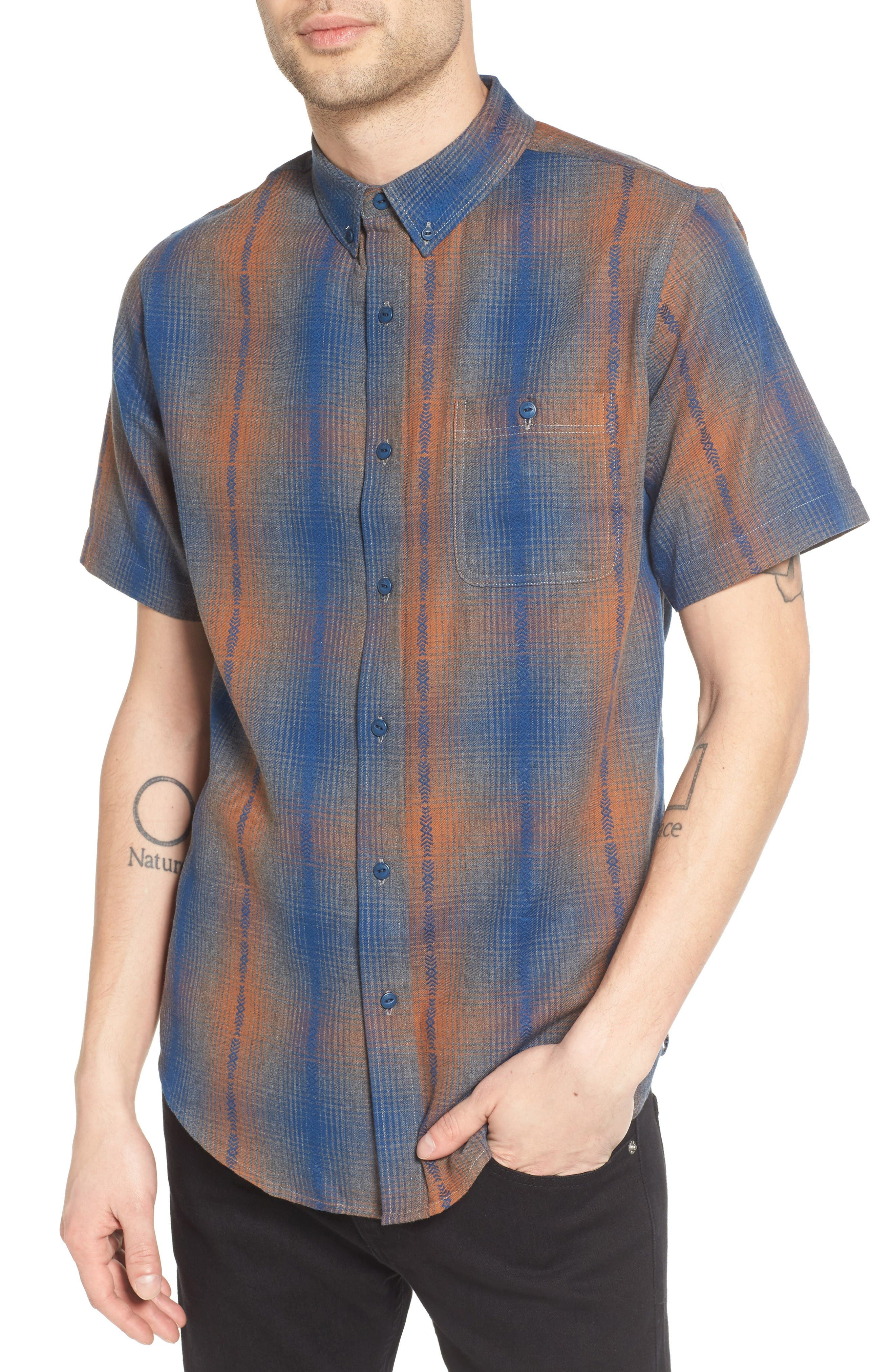 Ezekiel Dobby Plaid Woven Shirt