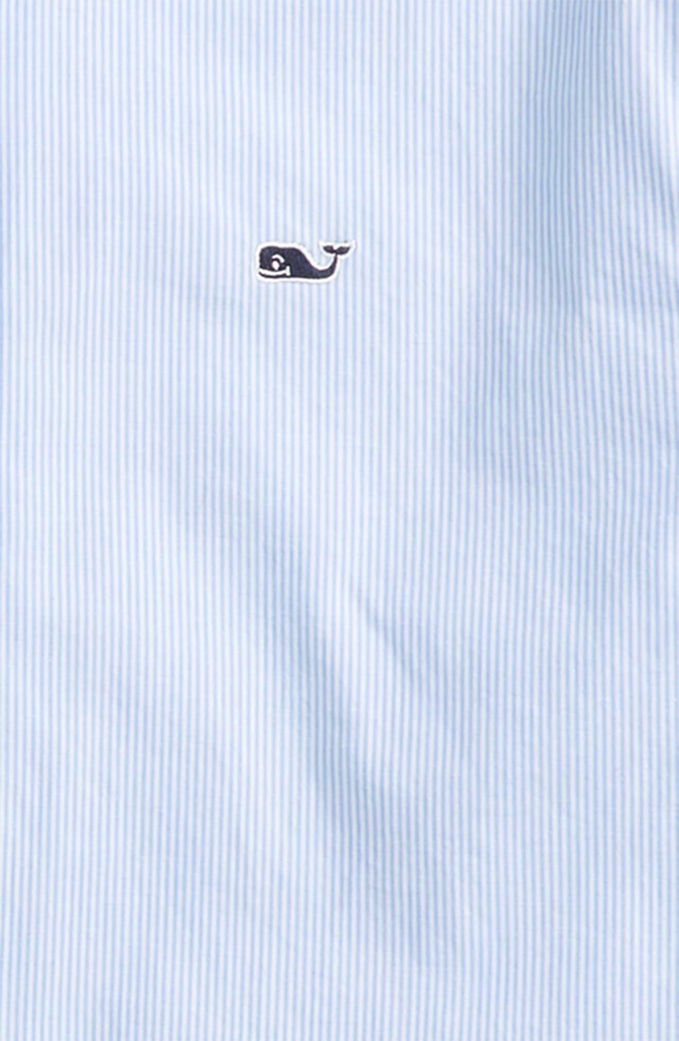 Alternate Image 2  - Vineyard Vines Fine Line Stripe - Whale Woven Shirt (Big Boys)