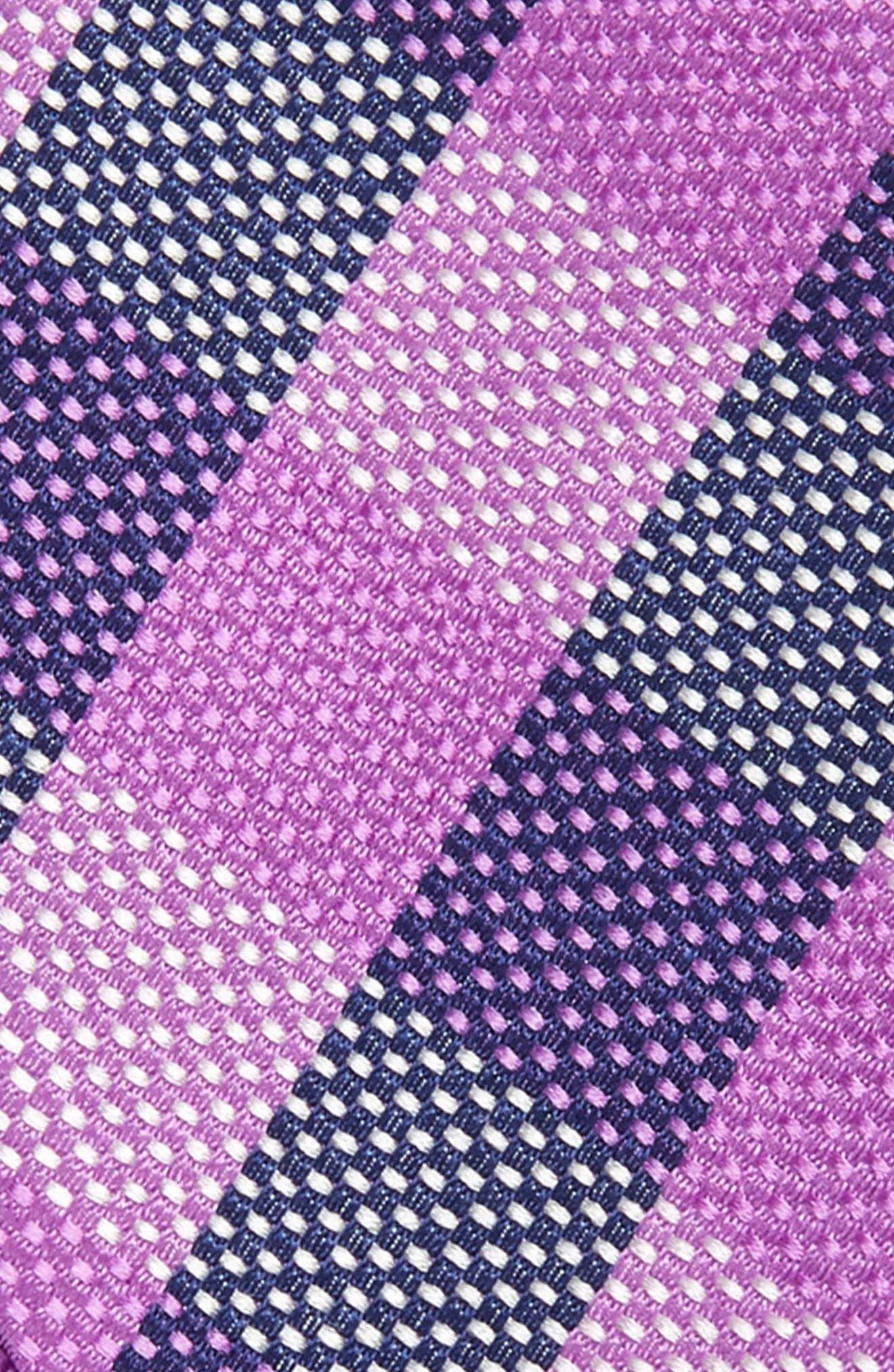 Derby Check Silk Bow Tie,                             Alternate thumbnail 3, color,                             Purple