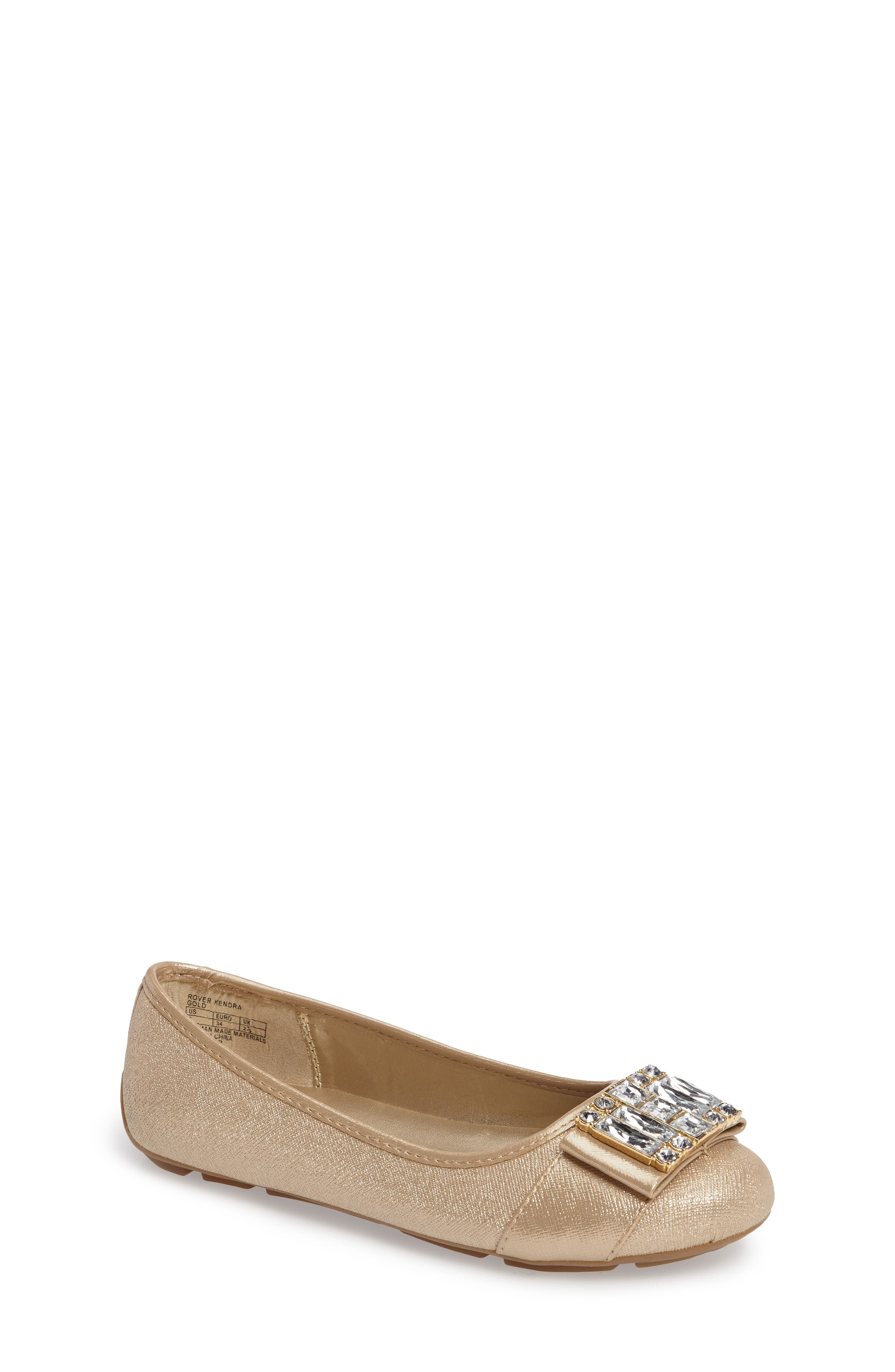Rover Kendra Ballet Flat,                         Main,                         color, Gold