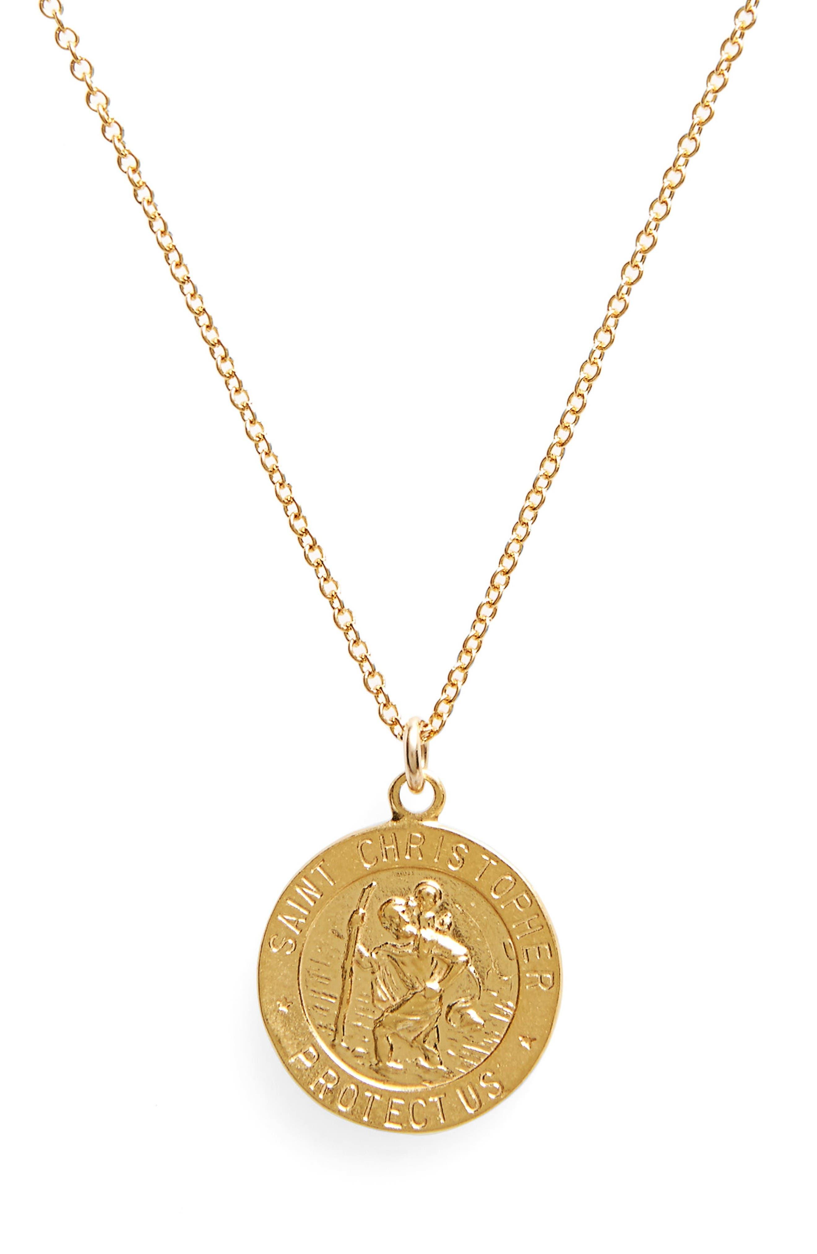 Alternate Image 2  - Dogeared St. Christopher Pendant Necklace
