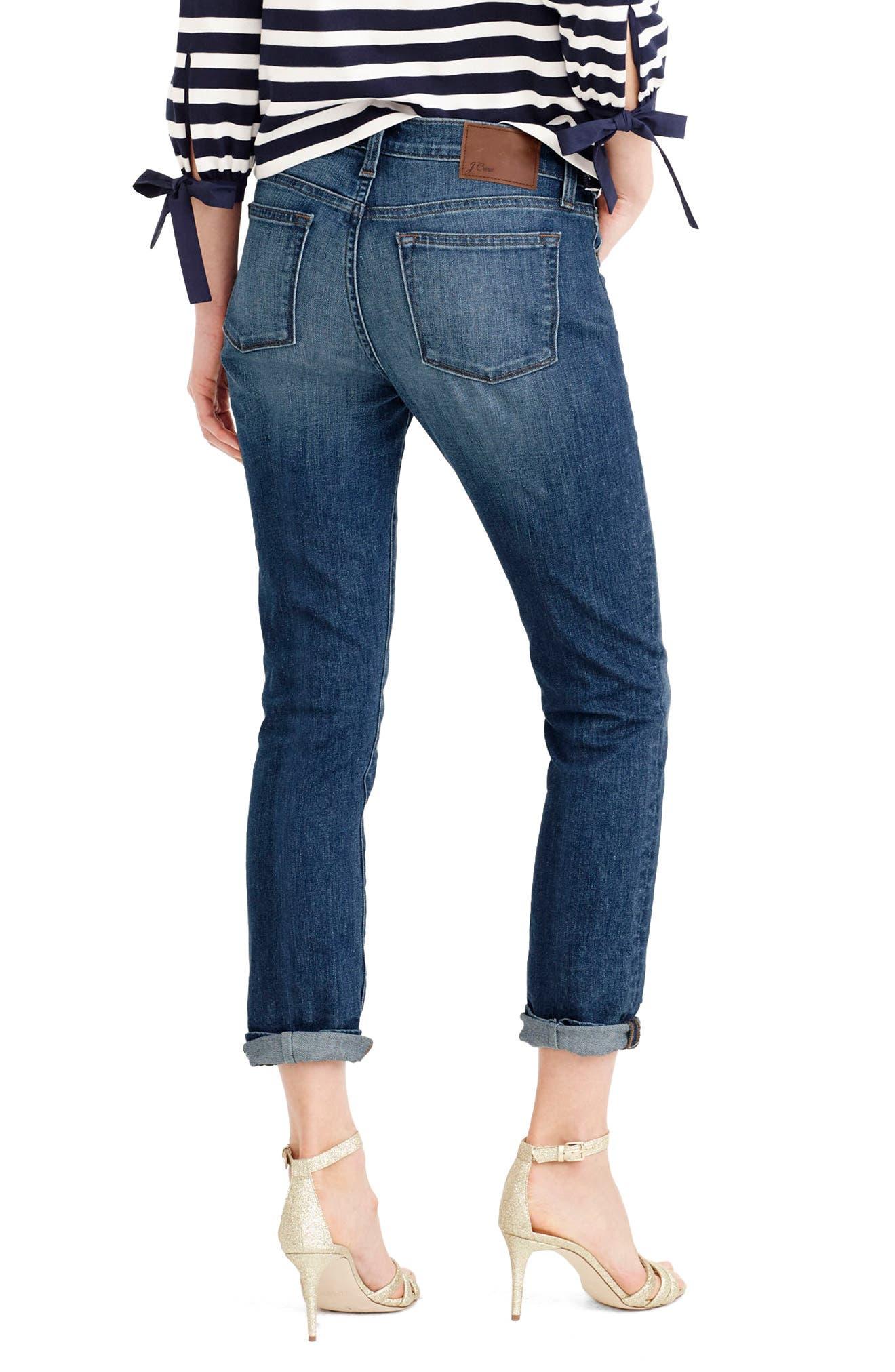 Alternate Image 4  - J.Crew Slim Boyfriend Jeans (Wakefield) (Regular & Petite)