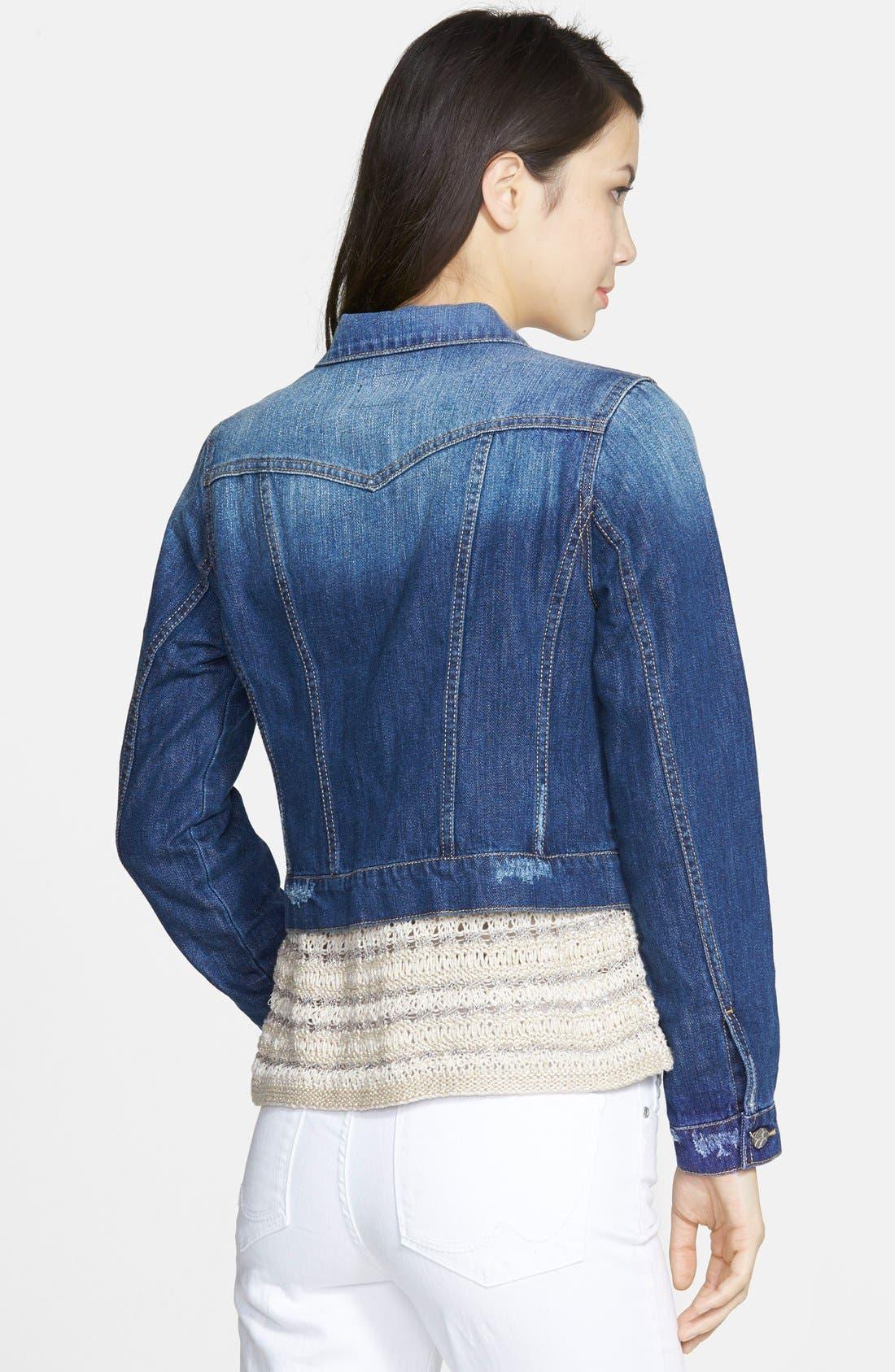 Alternate Image 2  - Jessica Simpson 'Pixie' Denim Jacket