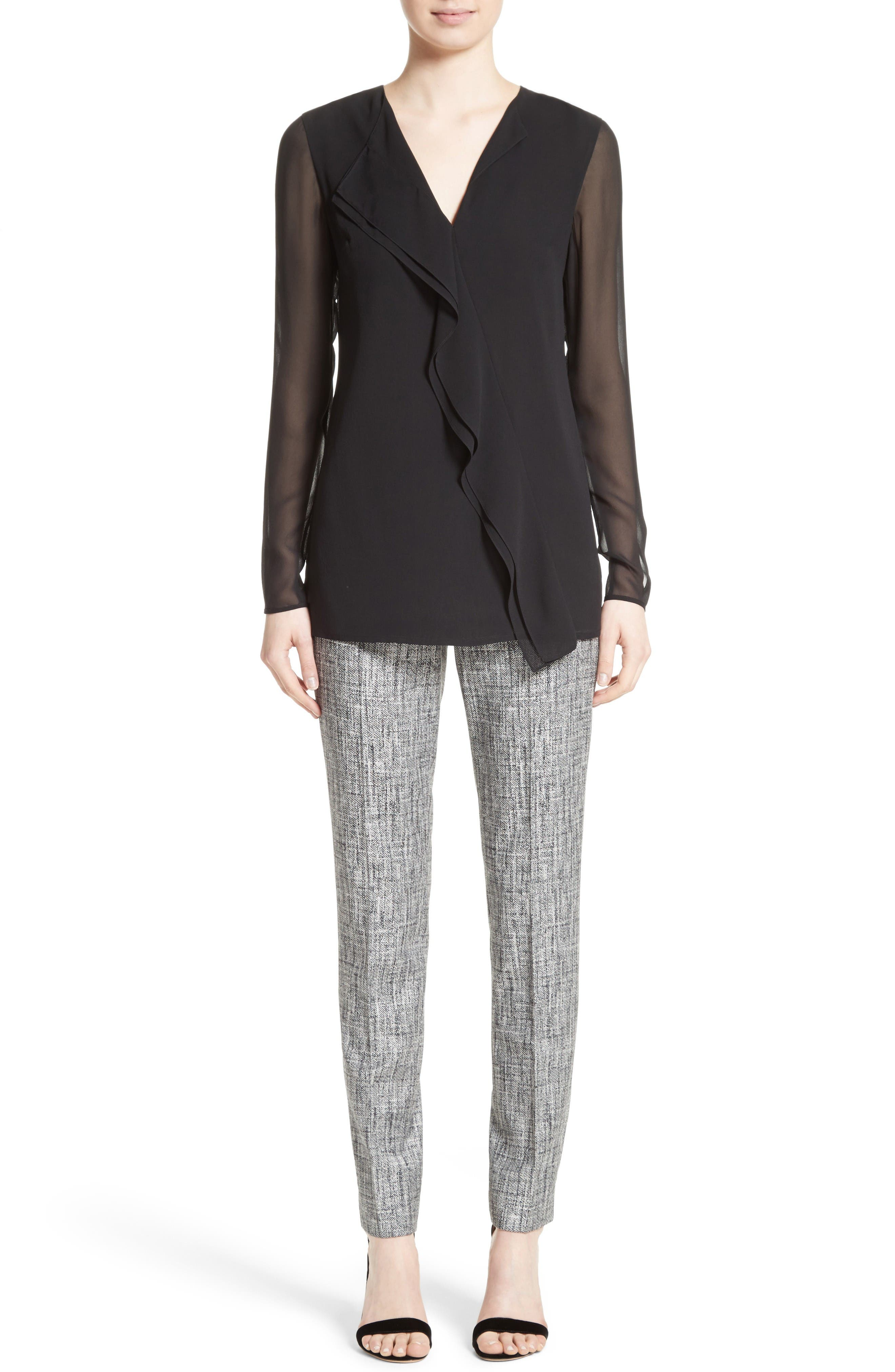 Alternate Image 9  - St. John Collection Emma Abstract Stretch Twill Pants