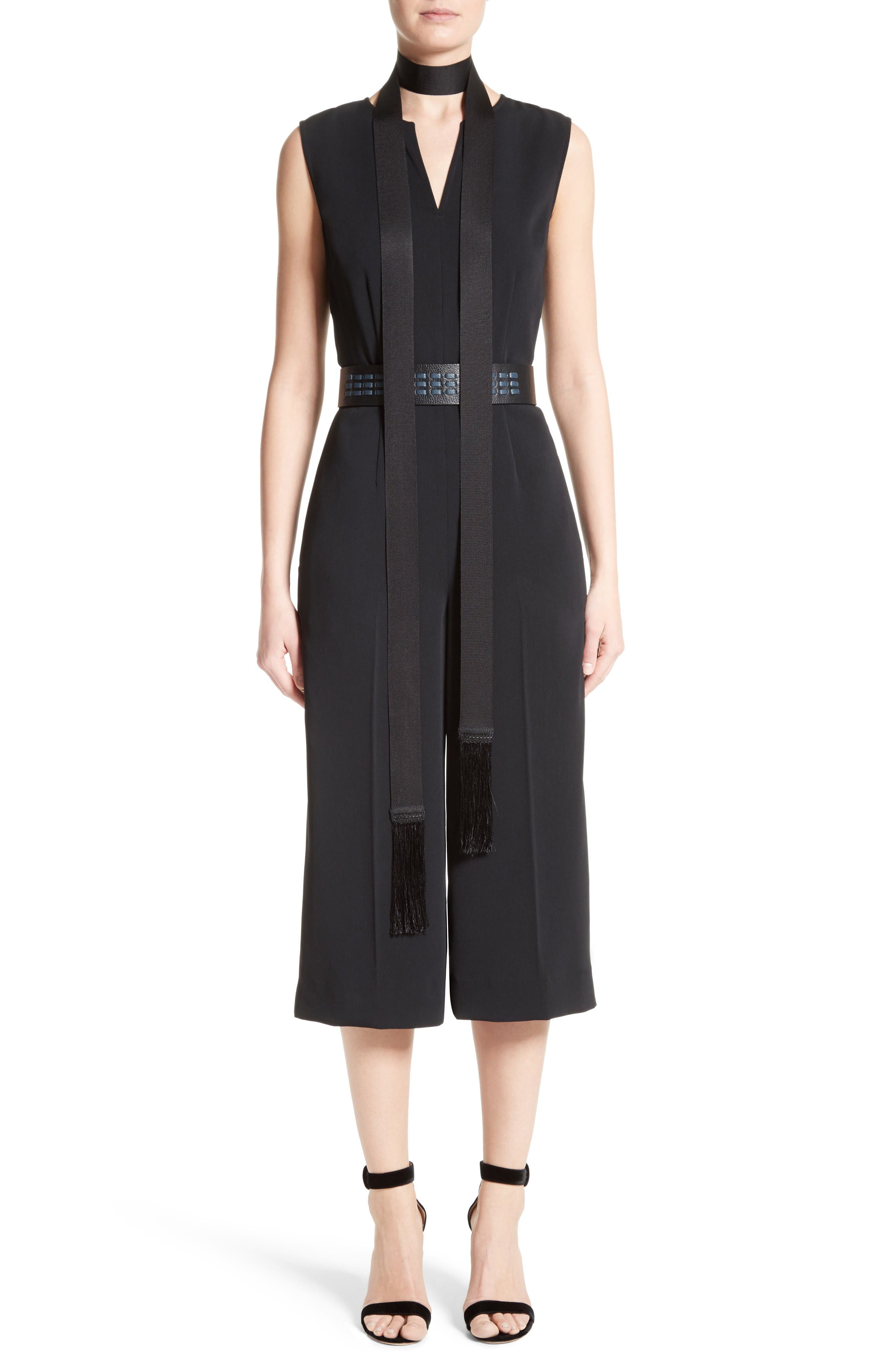Alternate Image 9  - St. John Collection Classic Stretch Cady Jumpsuit
