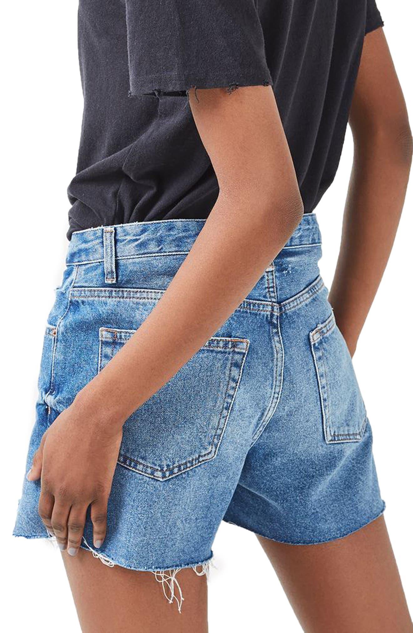 Alternate Image 3  - Topshop Ashley Ripped Boyfriend Shorts (Regular & Petite)