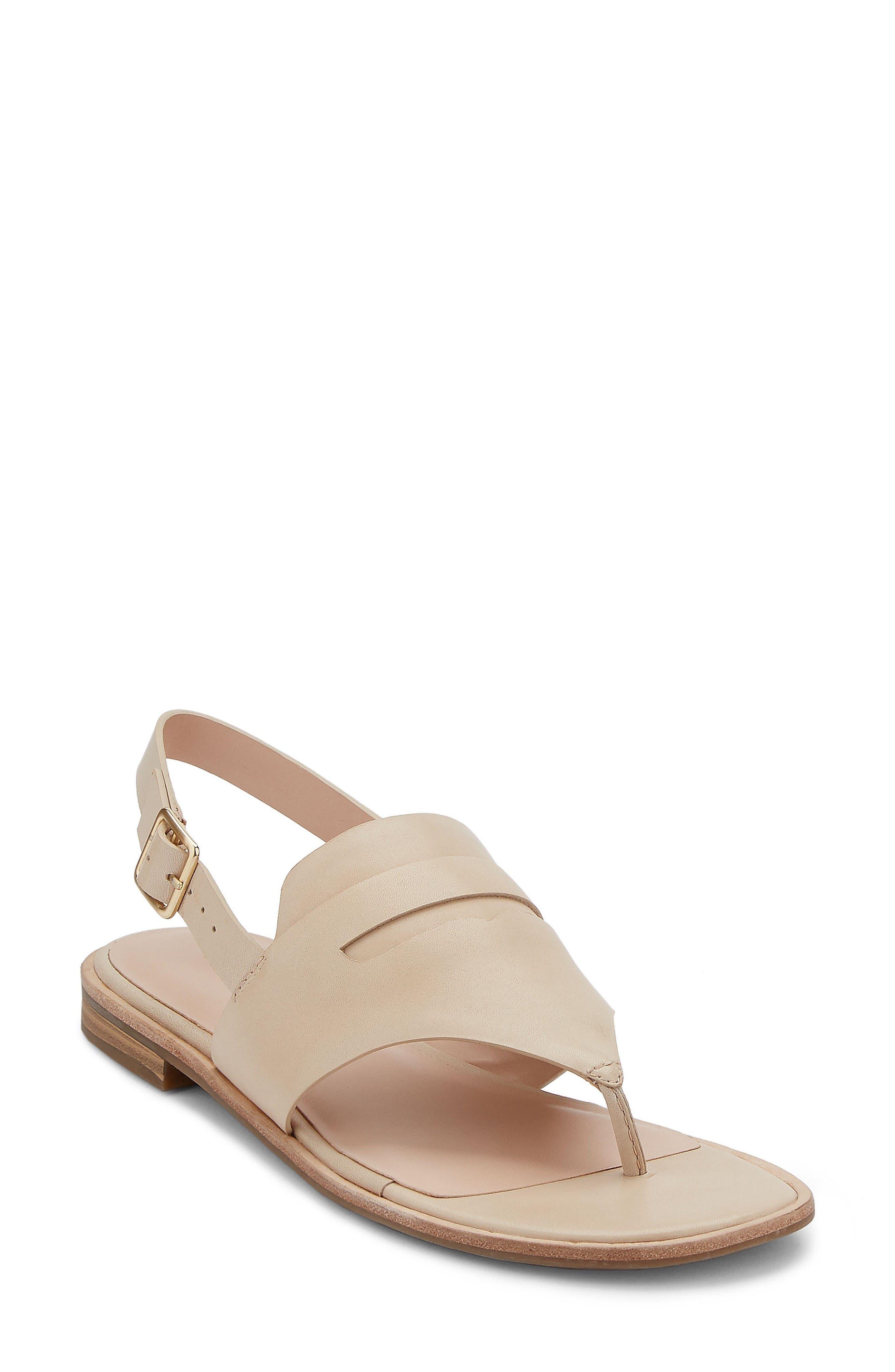 Maddie Slingback Sandal,                             Main thumbnail 1, color,                             Cream Leather