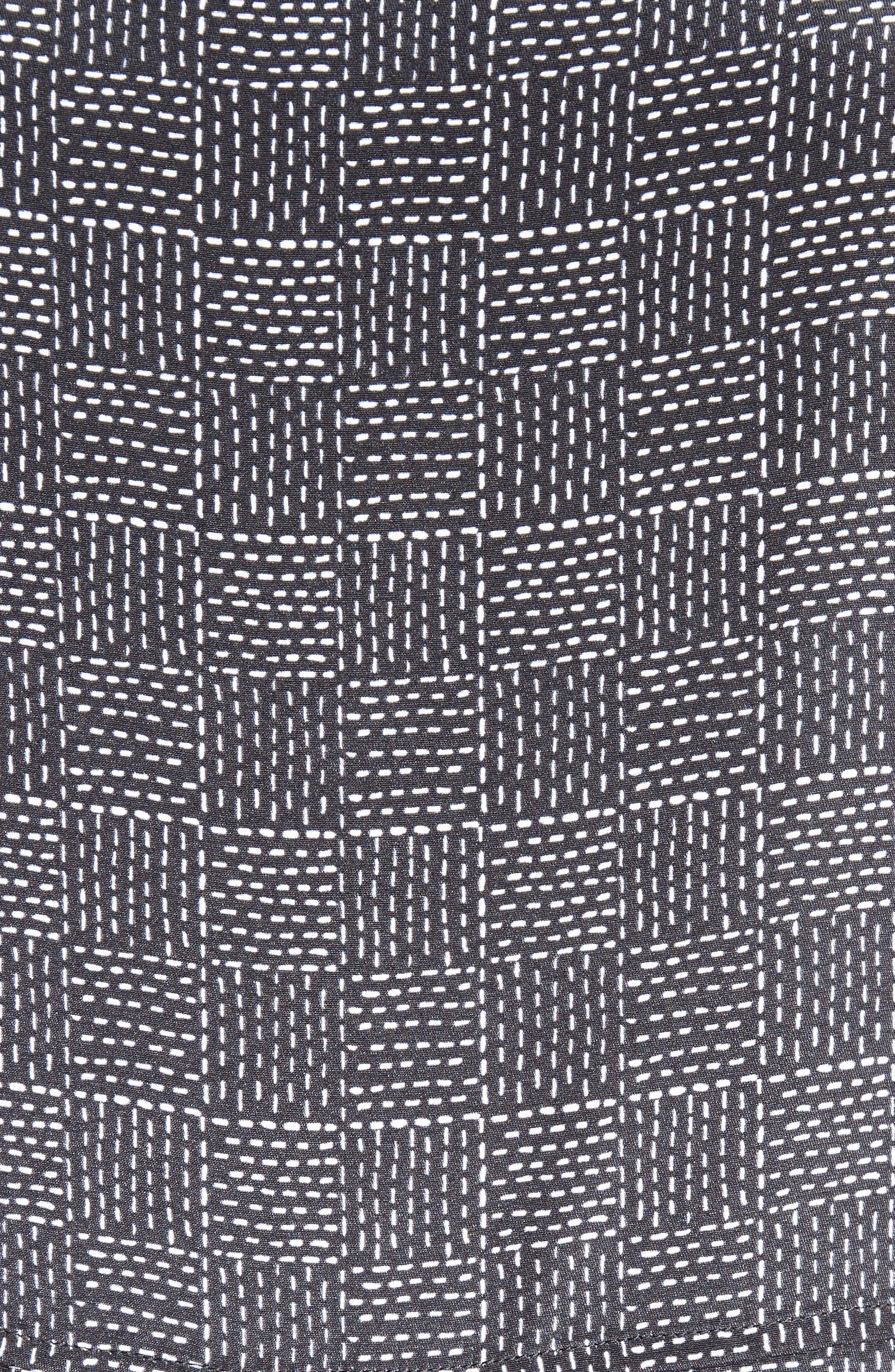Alternate Image 5  - St. John Collection Stitching Print Stretch Silk Shirtdress