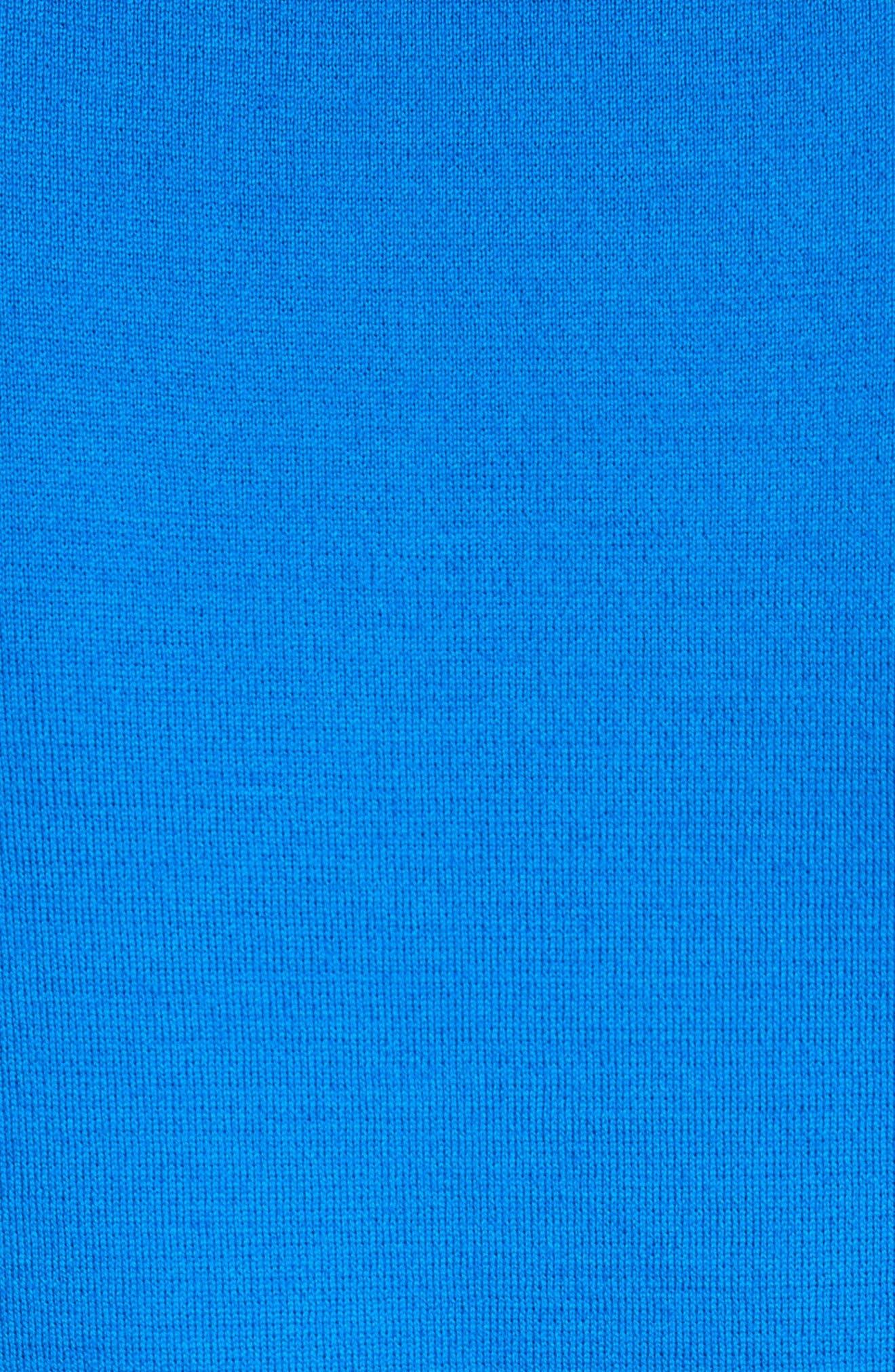 Milano Knit Contour Shell,                             Alternate thumbnail 5, color,                             Jaya Blue