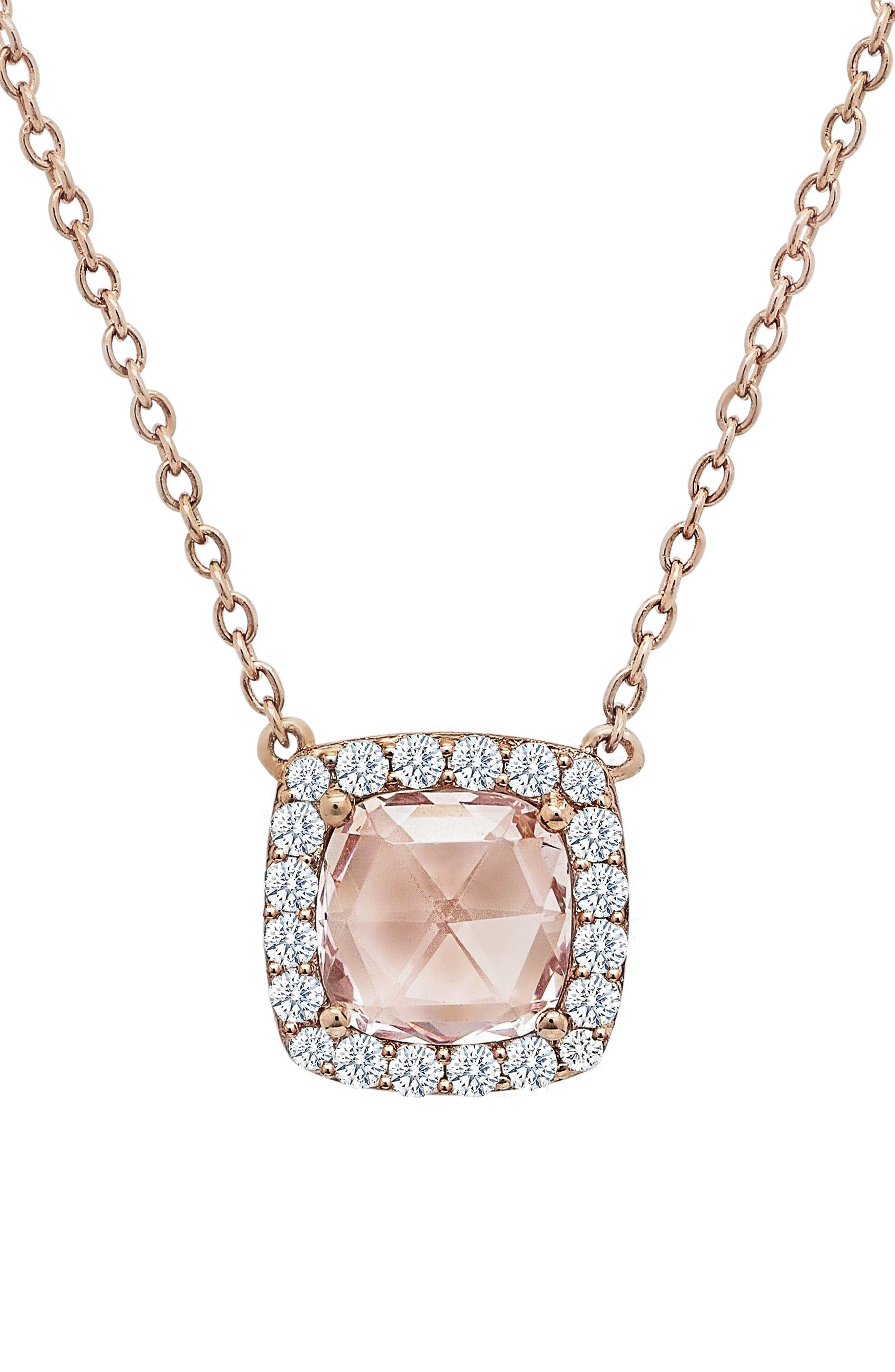 LAFONN Simulated Diamond Pendant Necklace
