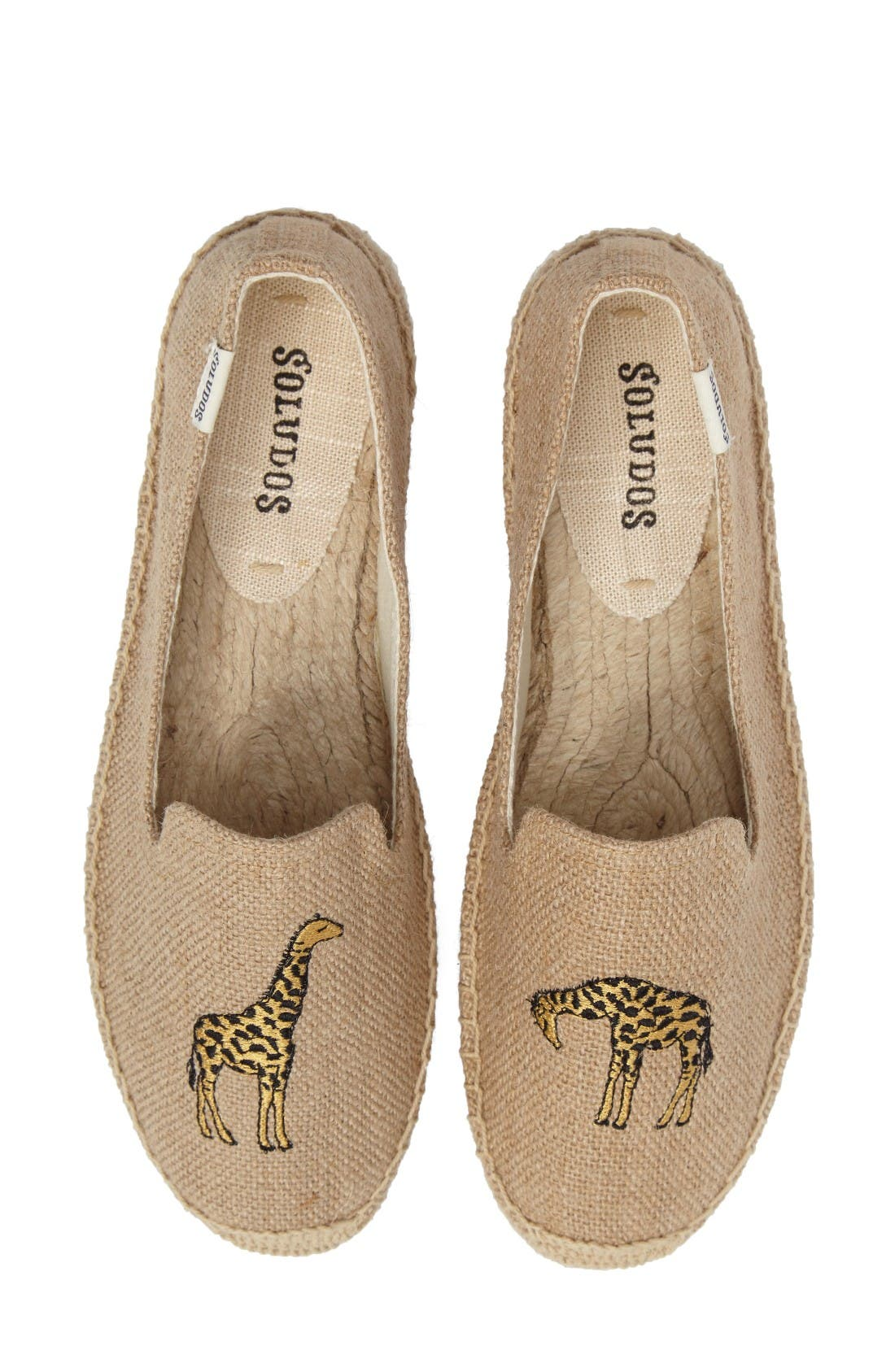 Giraffe Espadrille Flat,                         Main,                         color, Natural