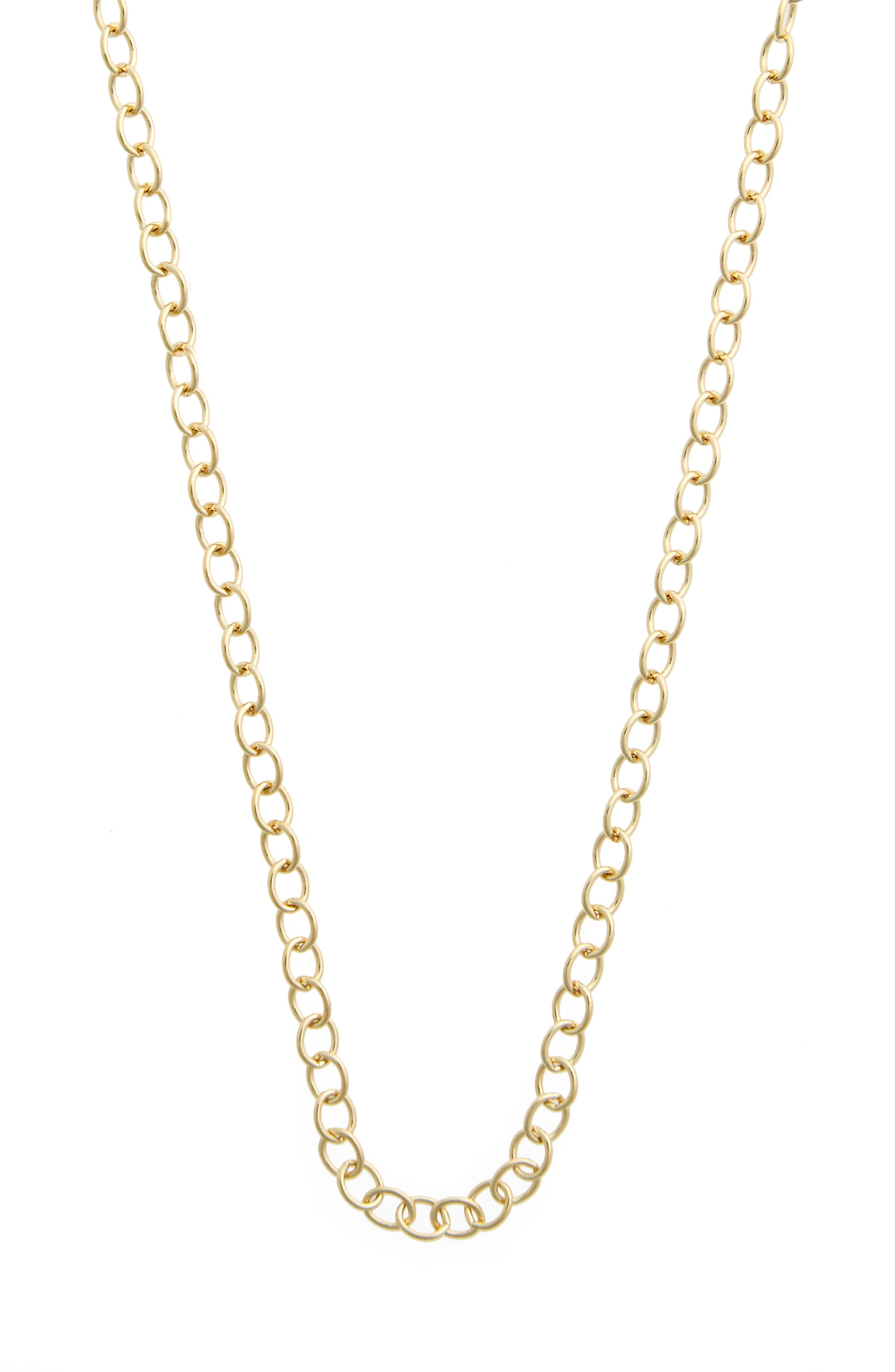 Alternate Image 3  - Temple St. Clair 18-Inch Oval Chain Necklace