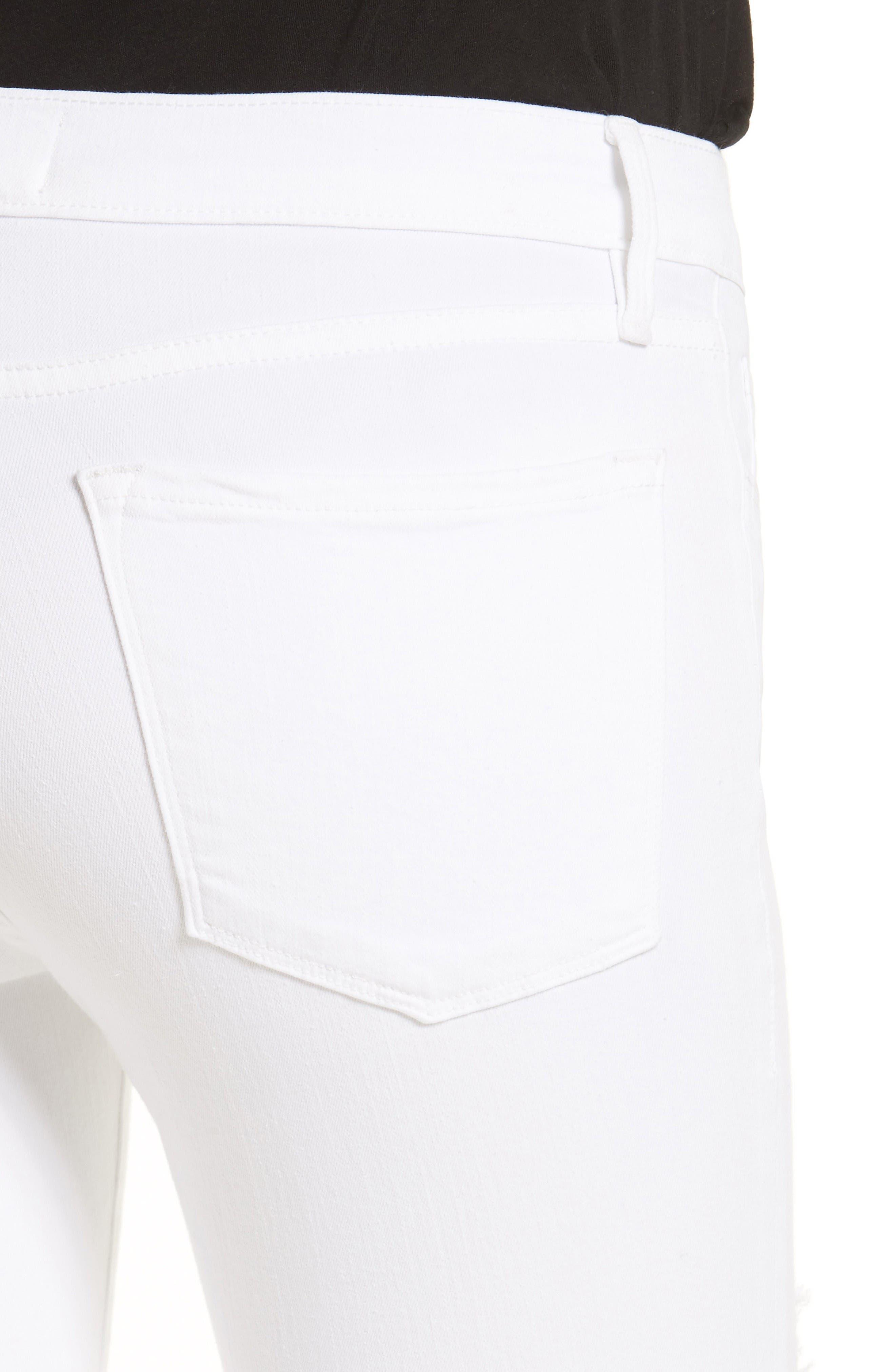 Alternate Image 4  - FRAME 'Le Skinny de Jeanne' Ripped Jeans (Noir Jefferson) (Nordstrom Exclusive)