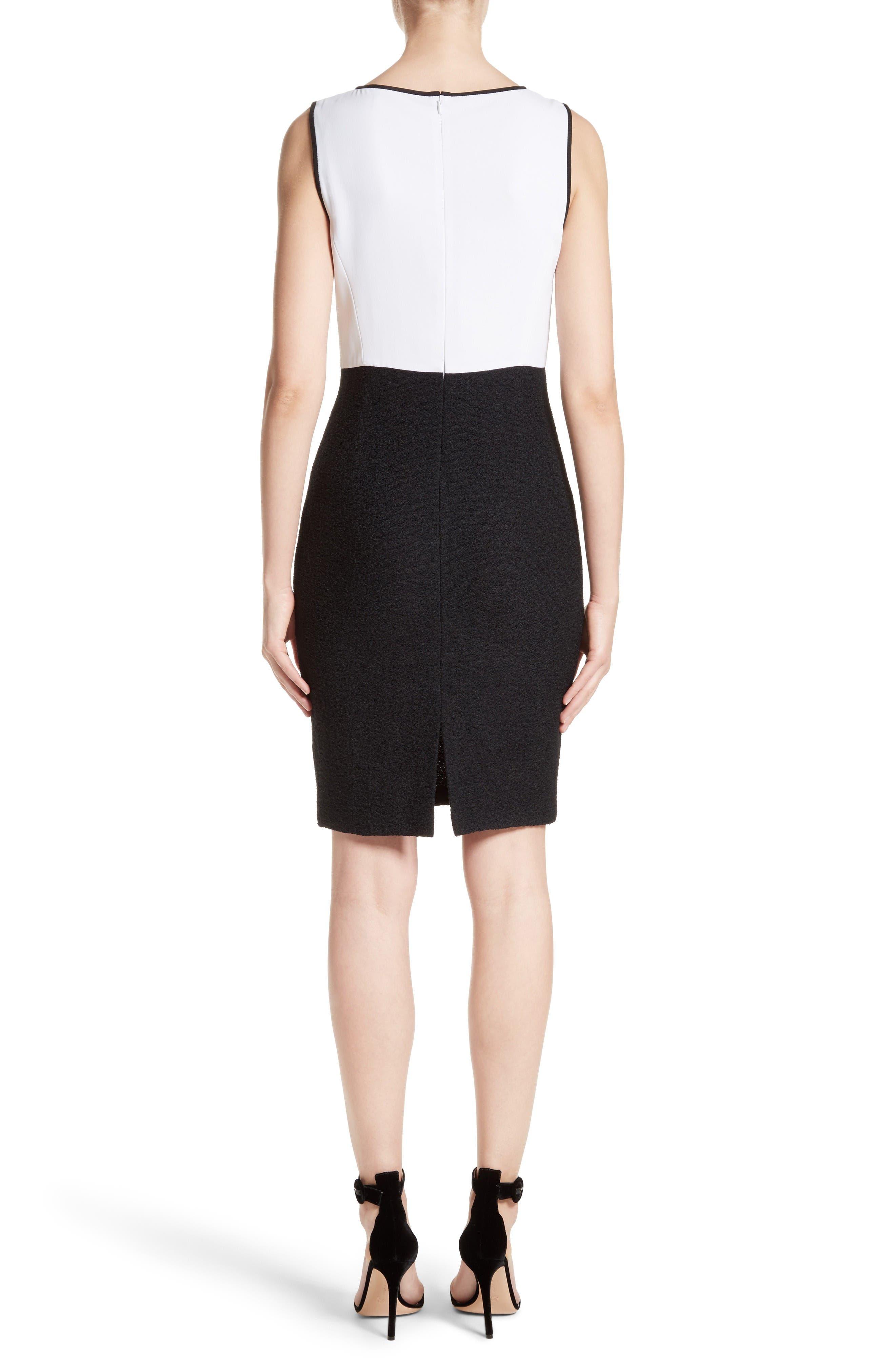Cady Bodice Clair Knit Dress,                             Alternate thumbnail 2, color,                             Bianco/ Caviar