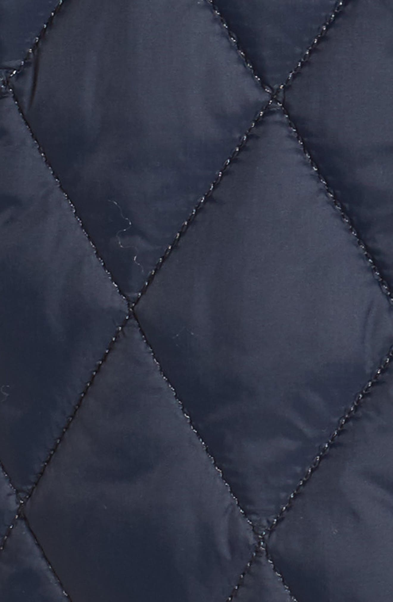 Dolostone Quilted Jacket,                             Alternate thumbnail 5, color,                             Dark Navy