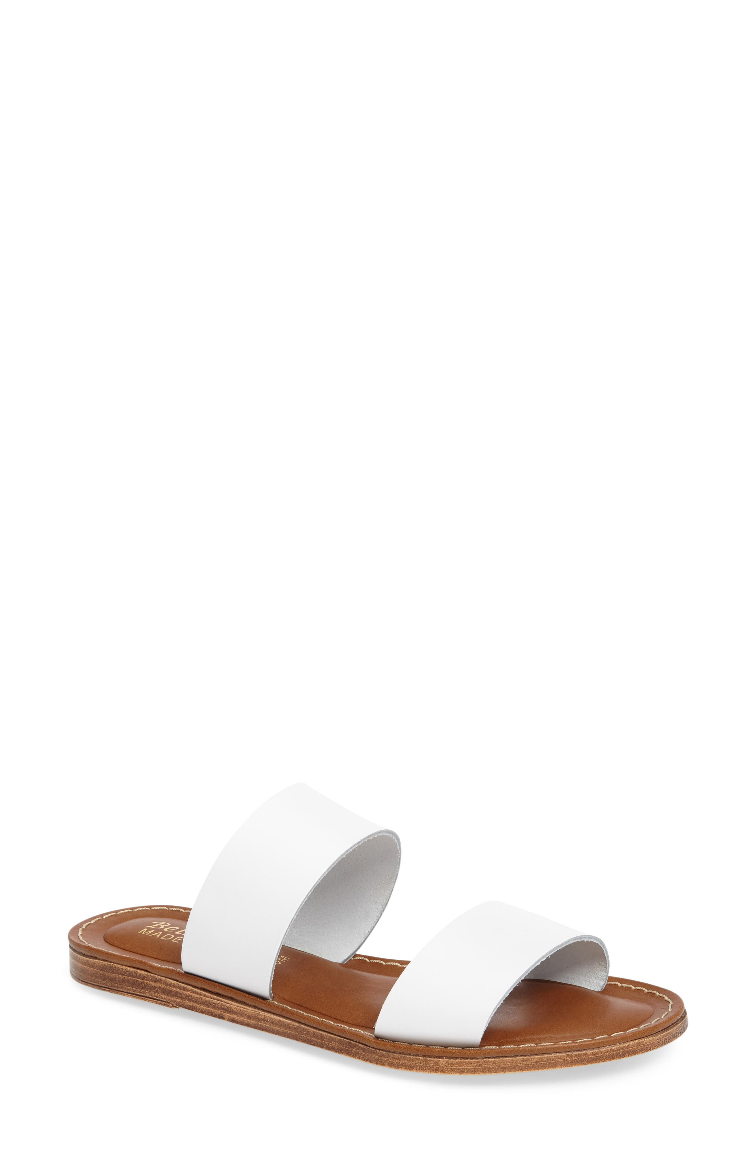 Imo Slide Sandal,                         Main,                         color, White Leather