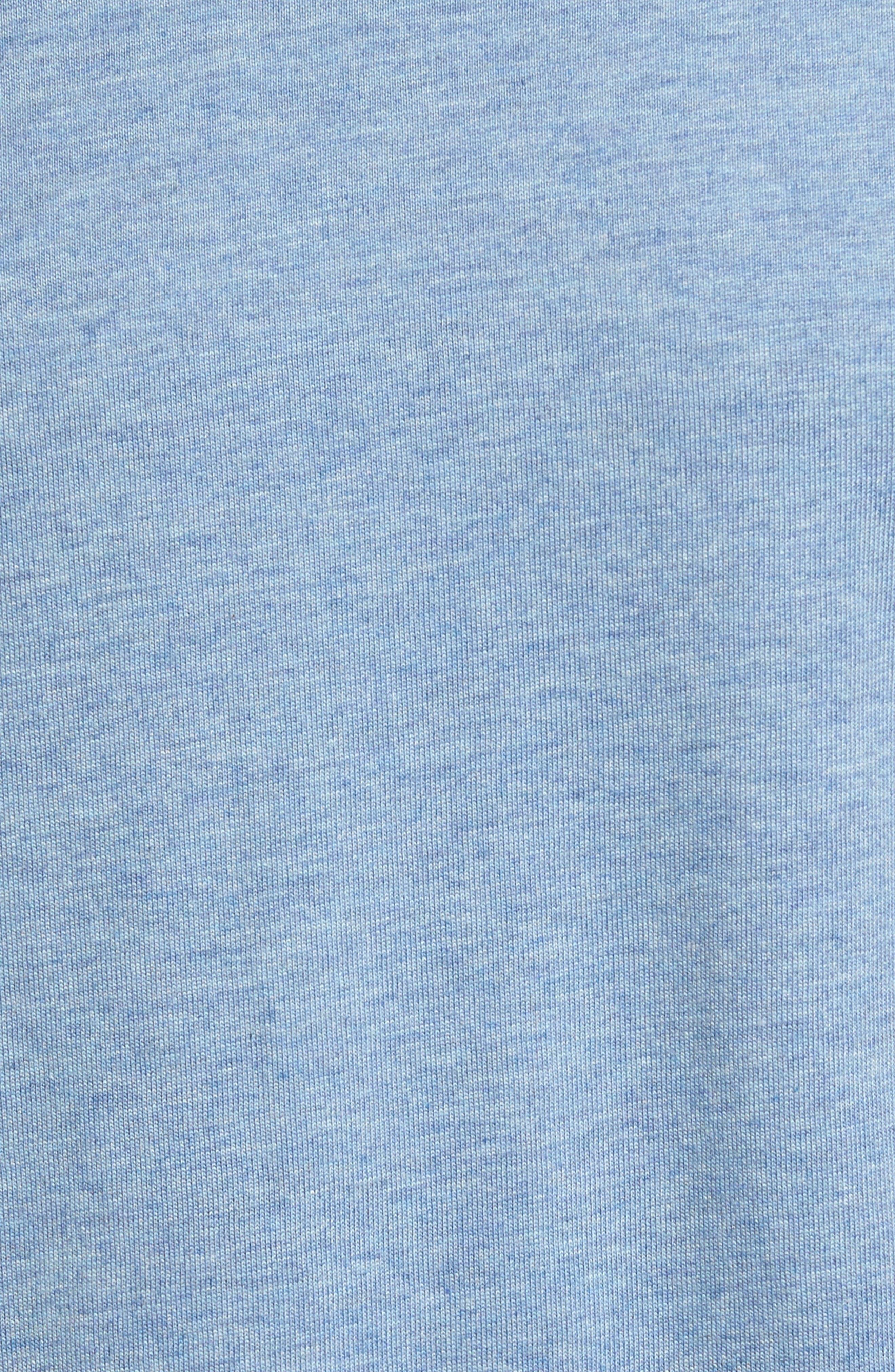 Crewneck Cotton & Modal T-Shirt,                             Alternate thumbnail 5, color,                             Blue Heather