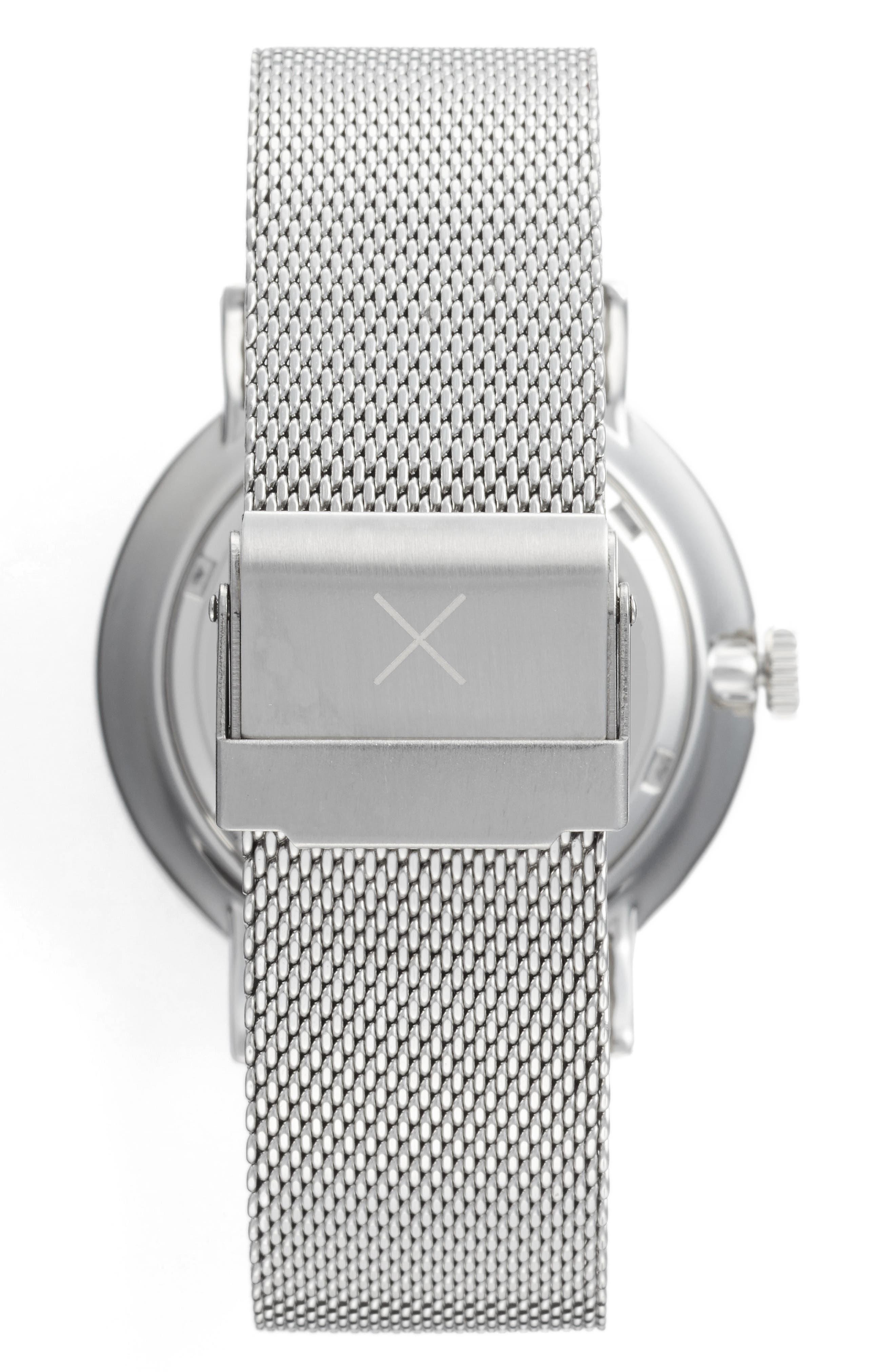 1.0 Mesh Strap Watch, 40mm,                             Alternate thumbnail 2, color,                             Silver/ White