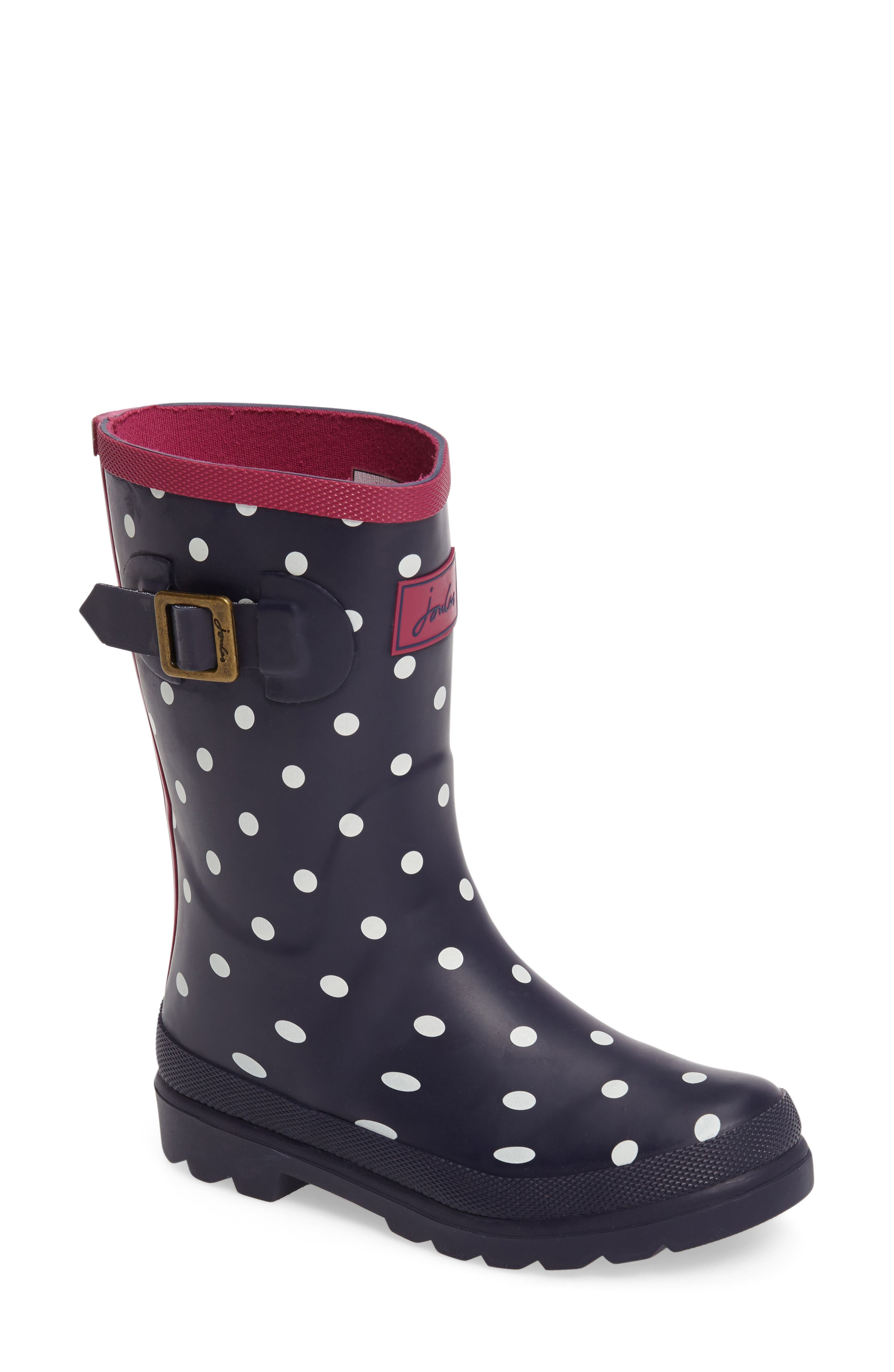 Joules 'Welly' Print Rain Boot (Toddler, Little Kid & Big Kid)