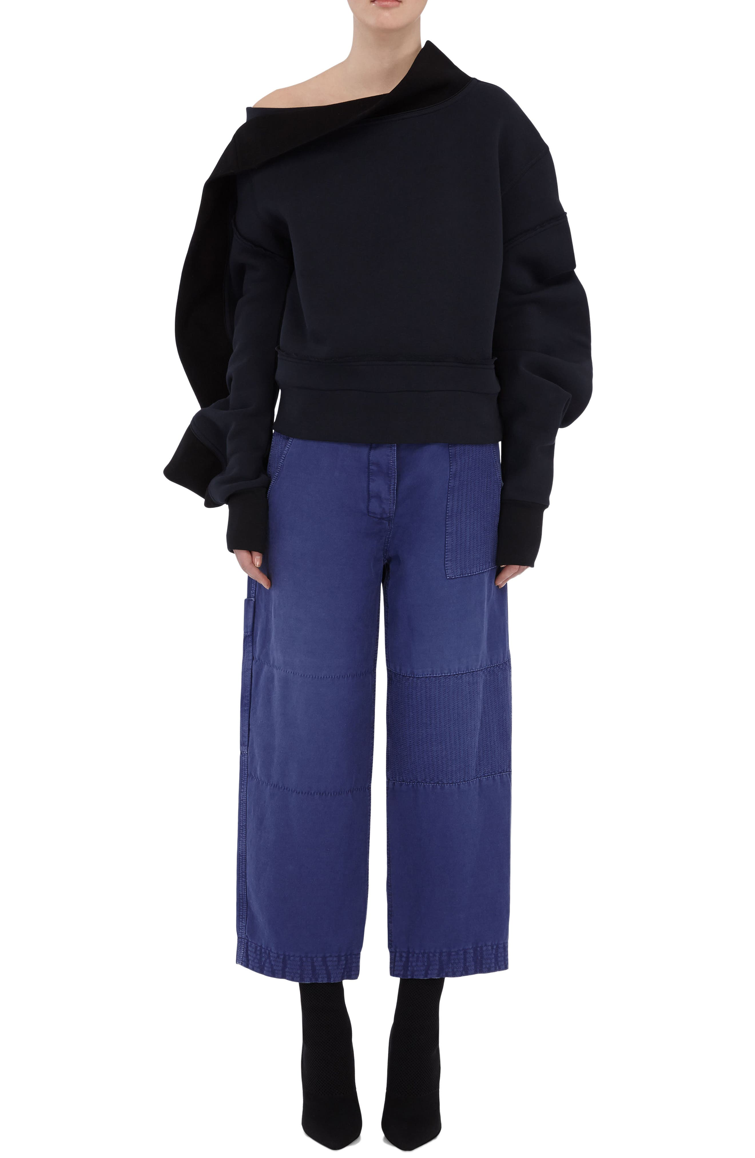 Alternate Image 5  - Burberry Crop Workwear Pants