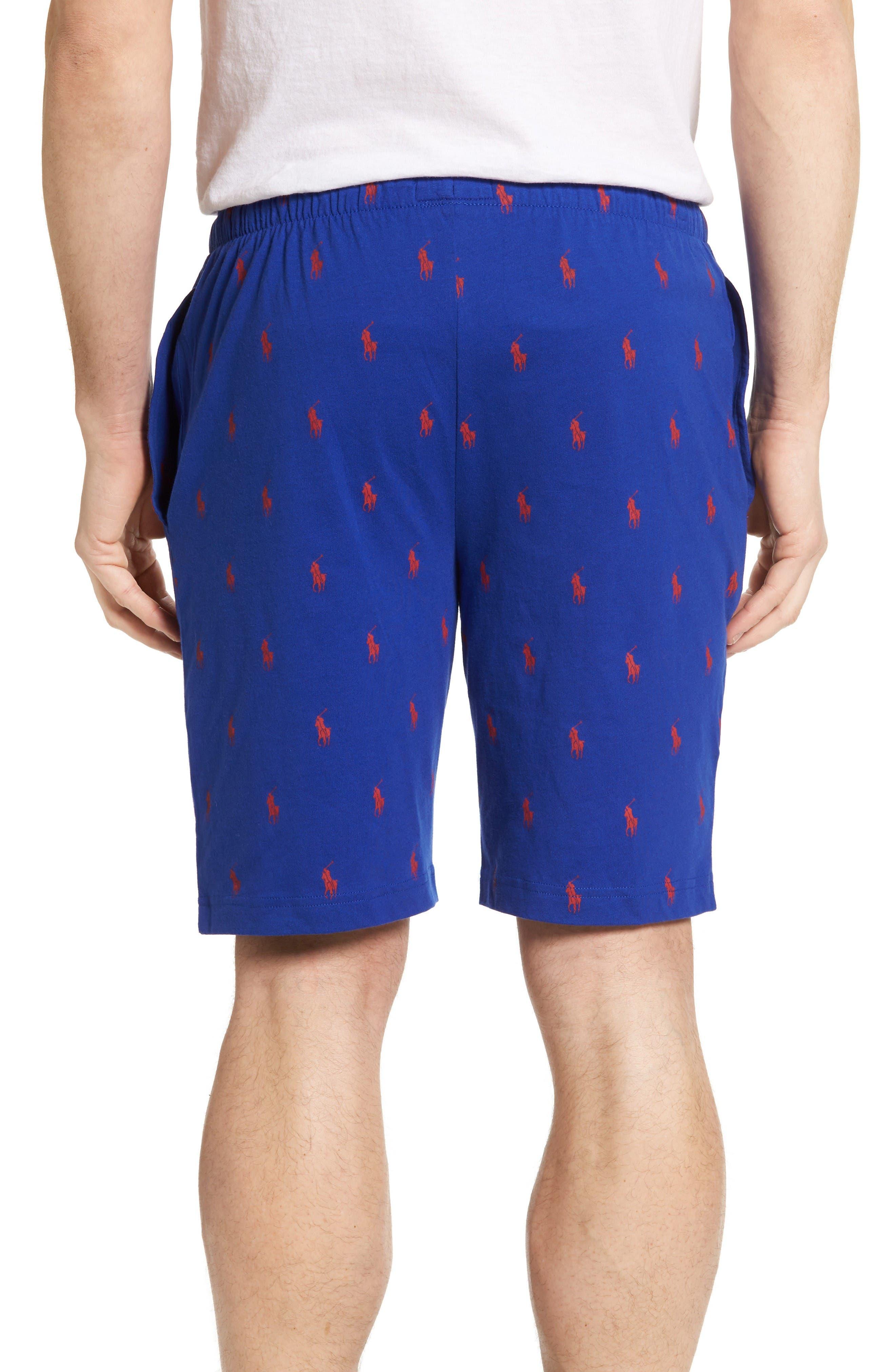 Cotton Sleep Shorts,                             Alternate thumbnail 2, color,                             Logan Sapphire