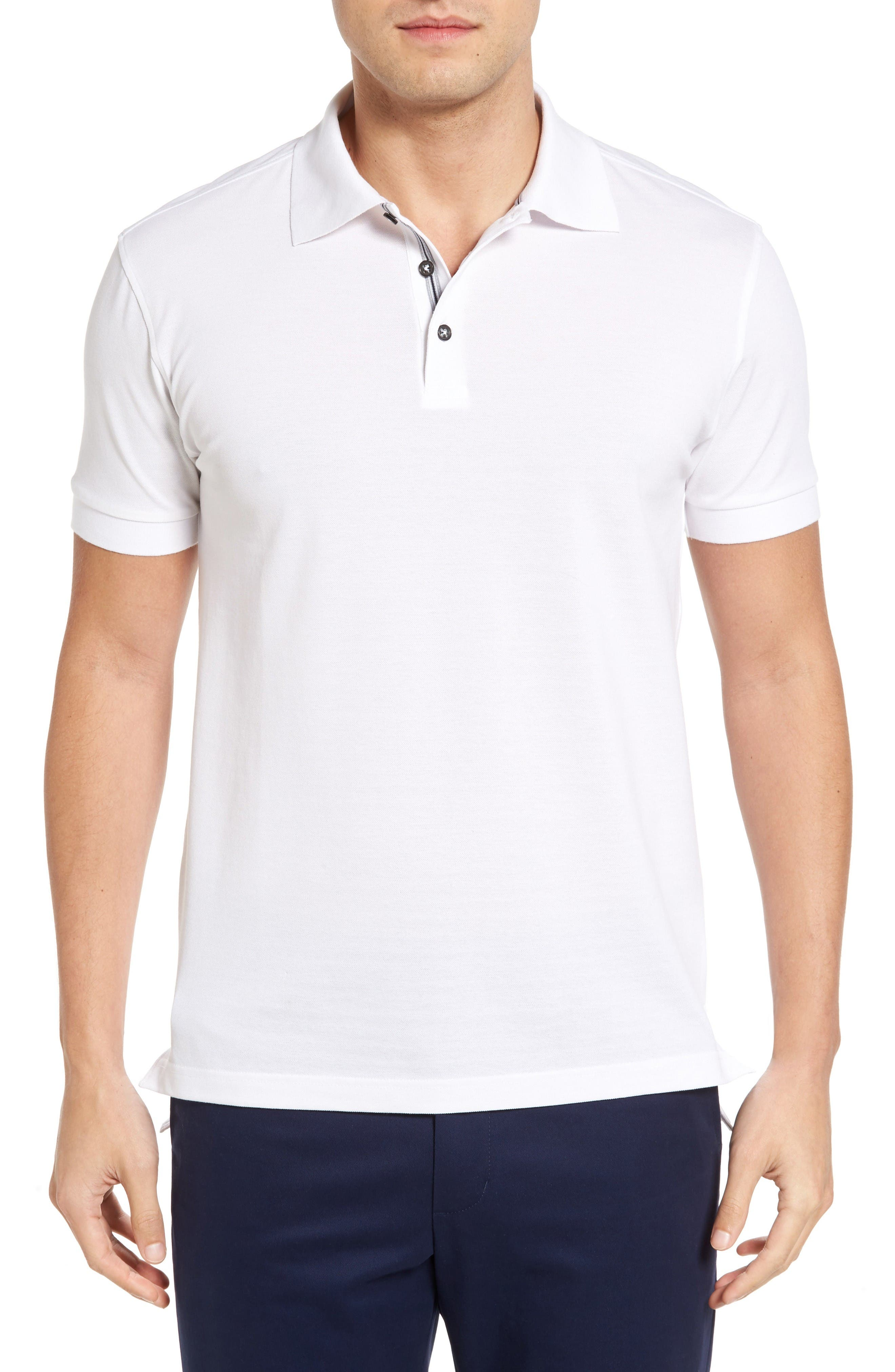 BOBBY JONES Solid Piqué Golf Polo