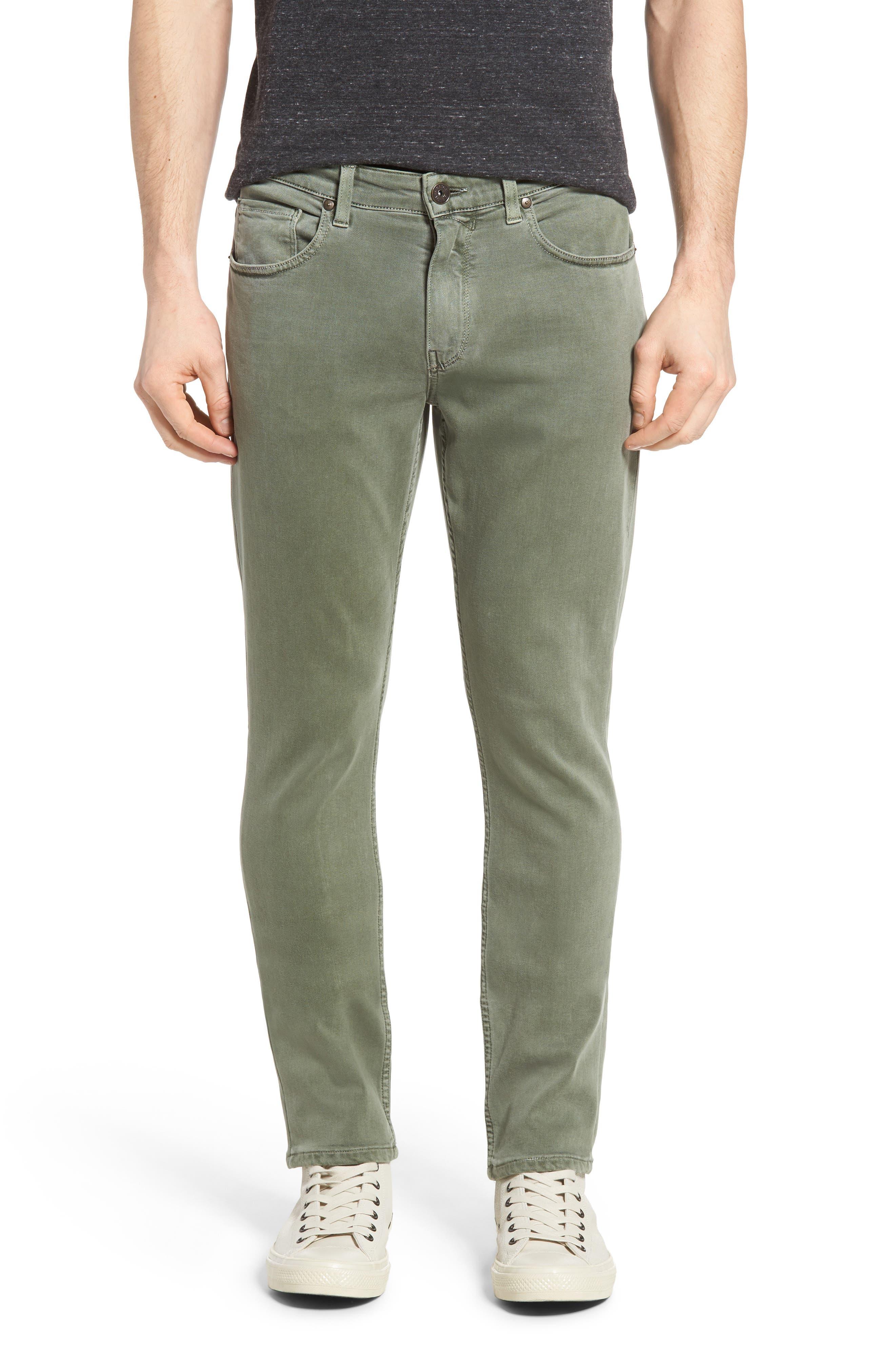 Transcend - Lennox Slim Fit Jeans,                         Main,                         color, Greenhouse
