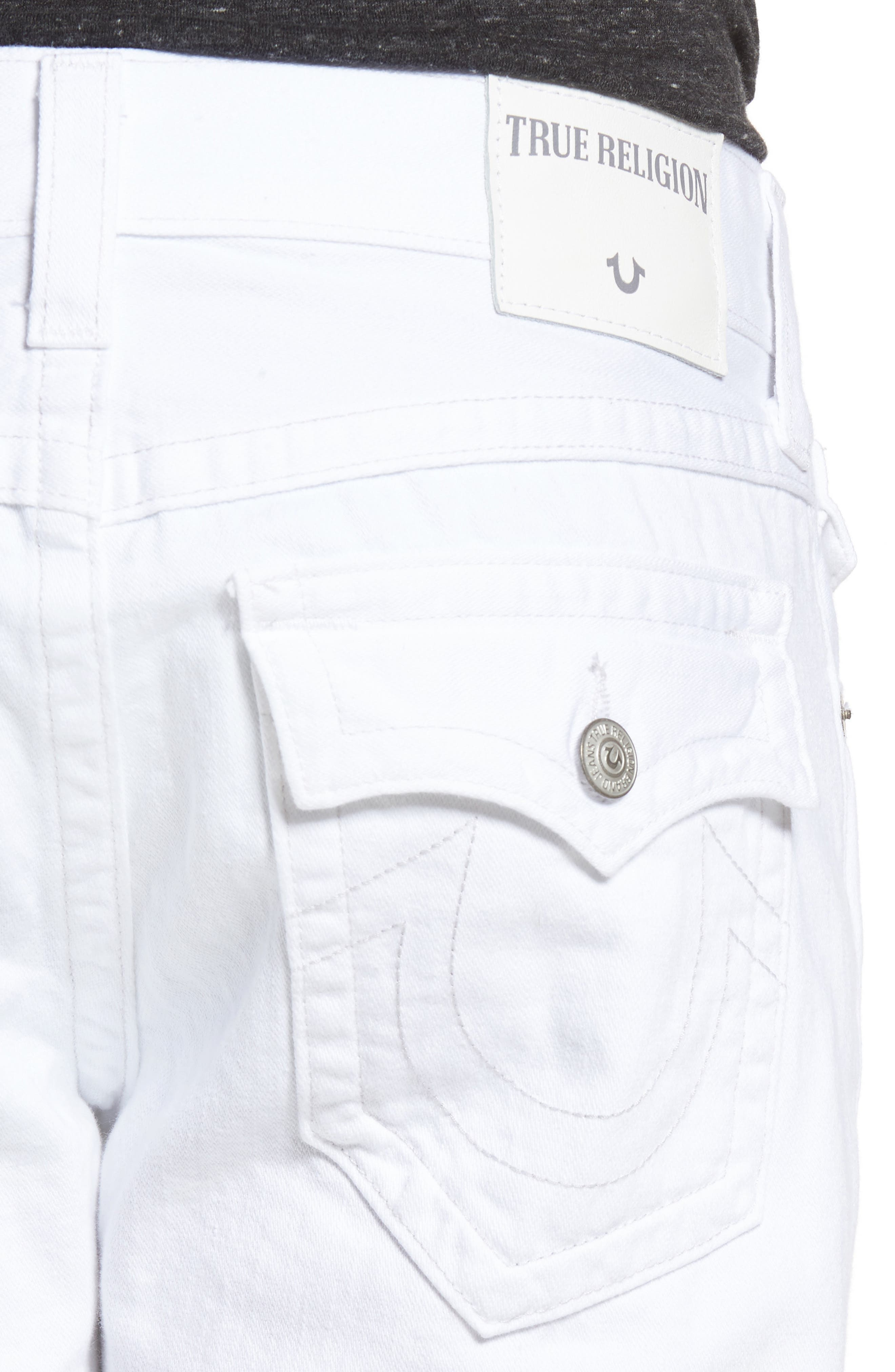 Alternate Image 4  - True Religion Brand Jeans Ricky Relaxed Fit Jeans (Optic White)