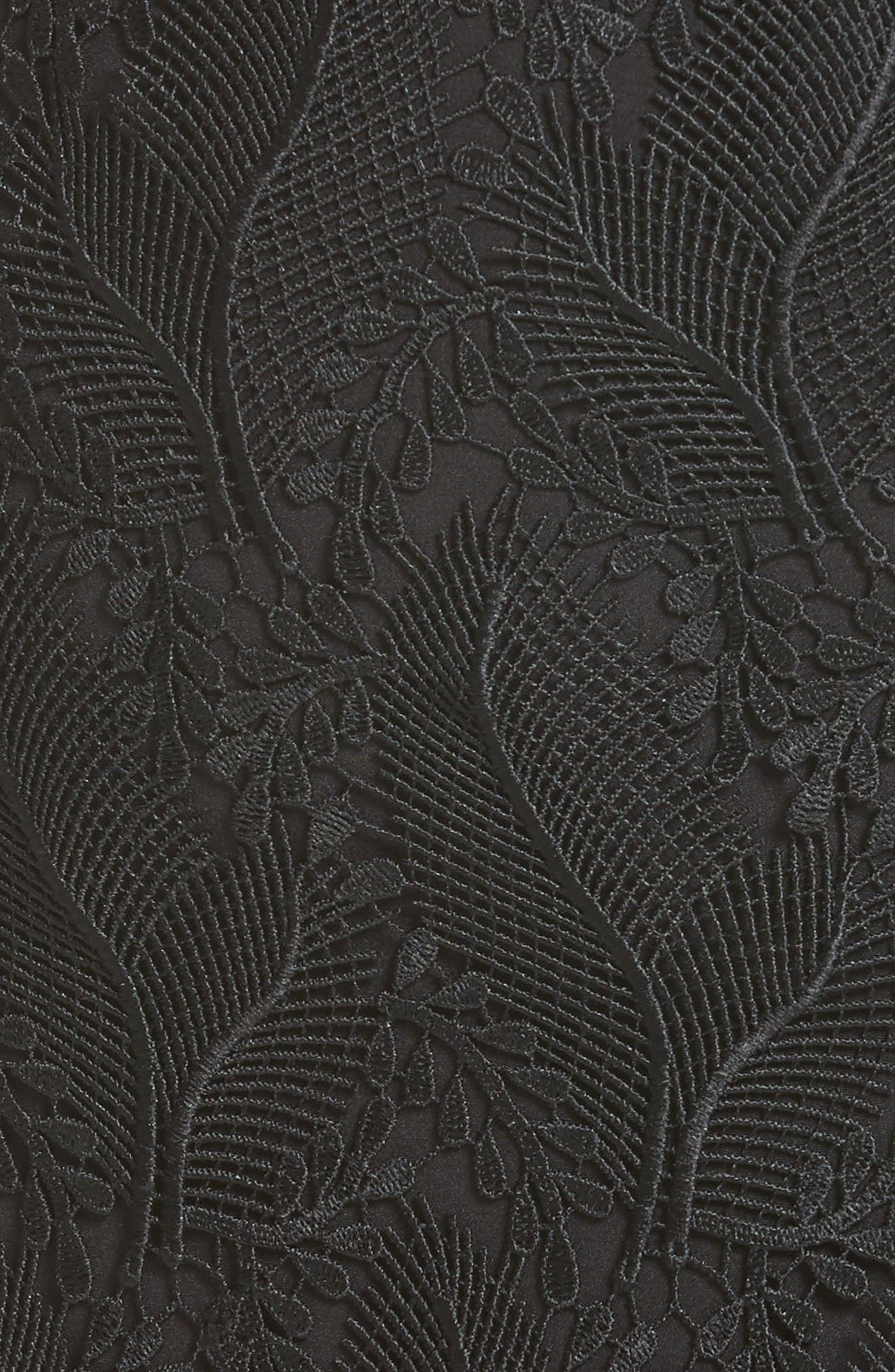Lace Overlay Pencil Skirt,                             Alternate thumbnail 6, color,                             Black