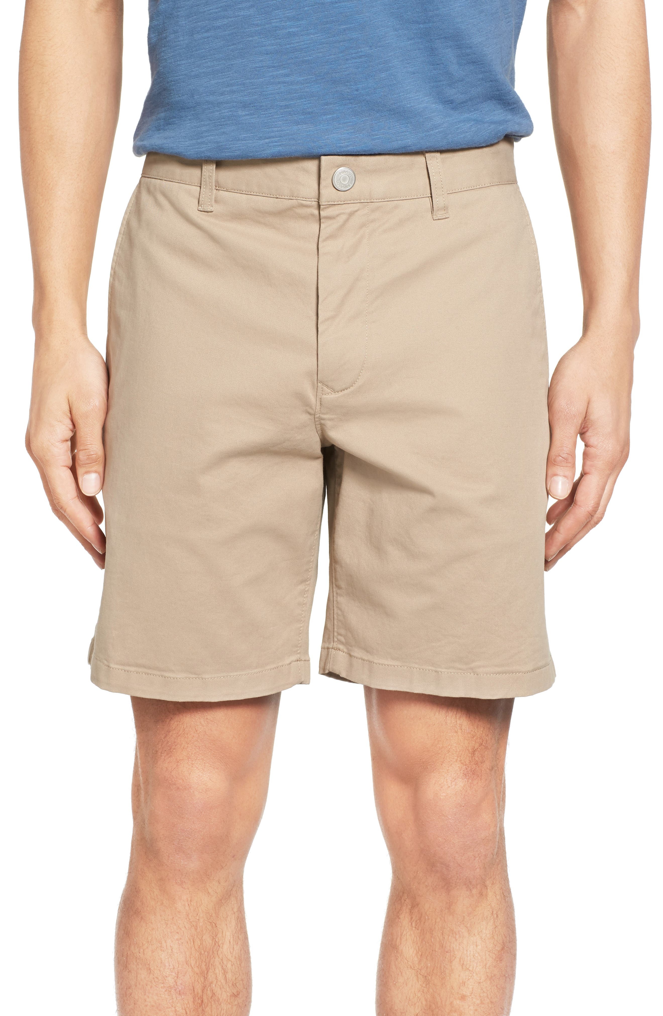 Stretch Washed Chino 7-Inch Shorts,                         Main,                         color, True Khaki
