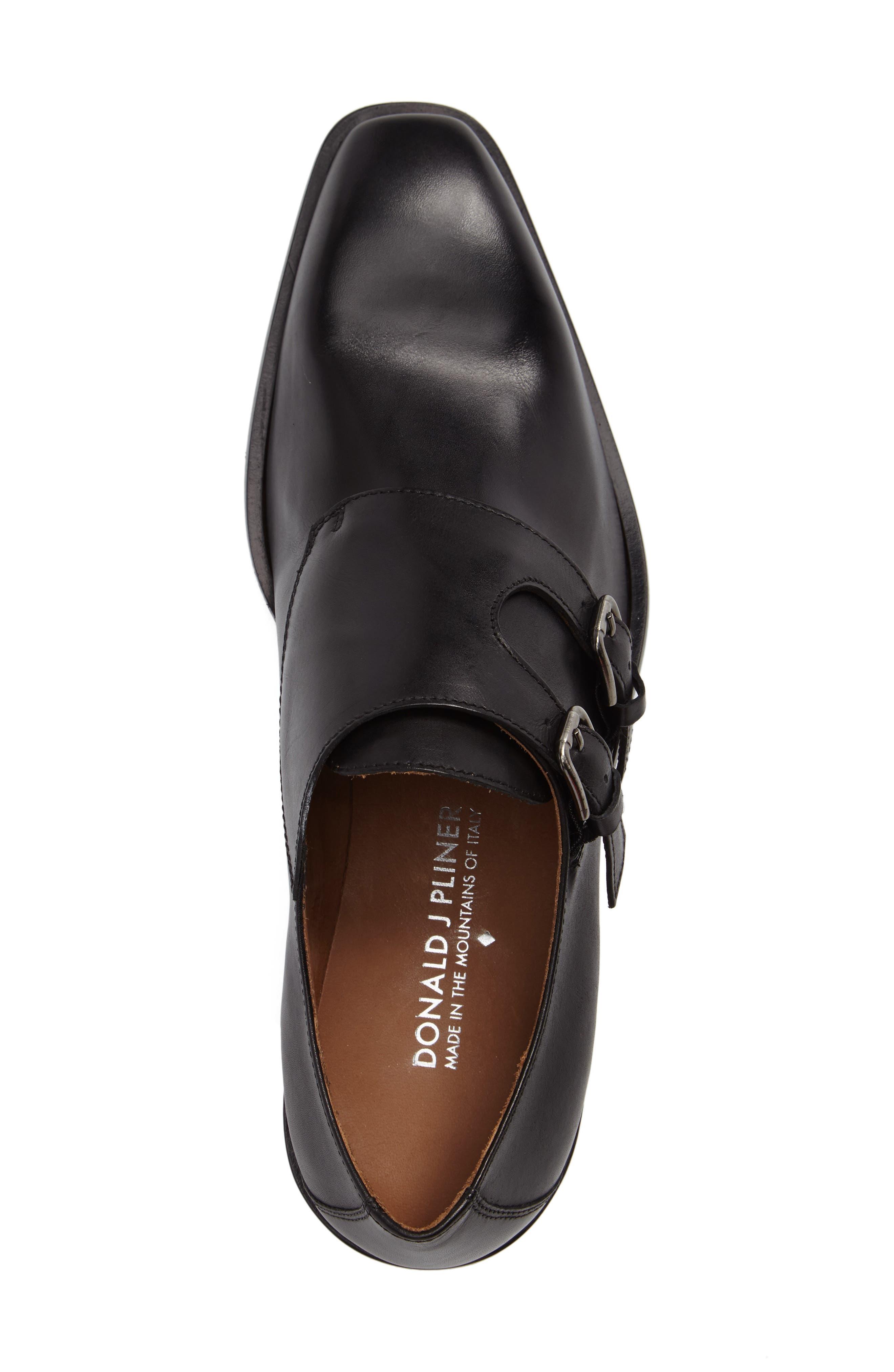 Vivaldo Venetian Loafer,                             Alternate thumbnail 4, color,                             Black Leather