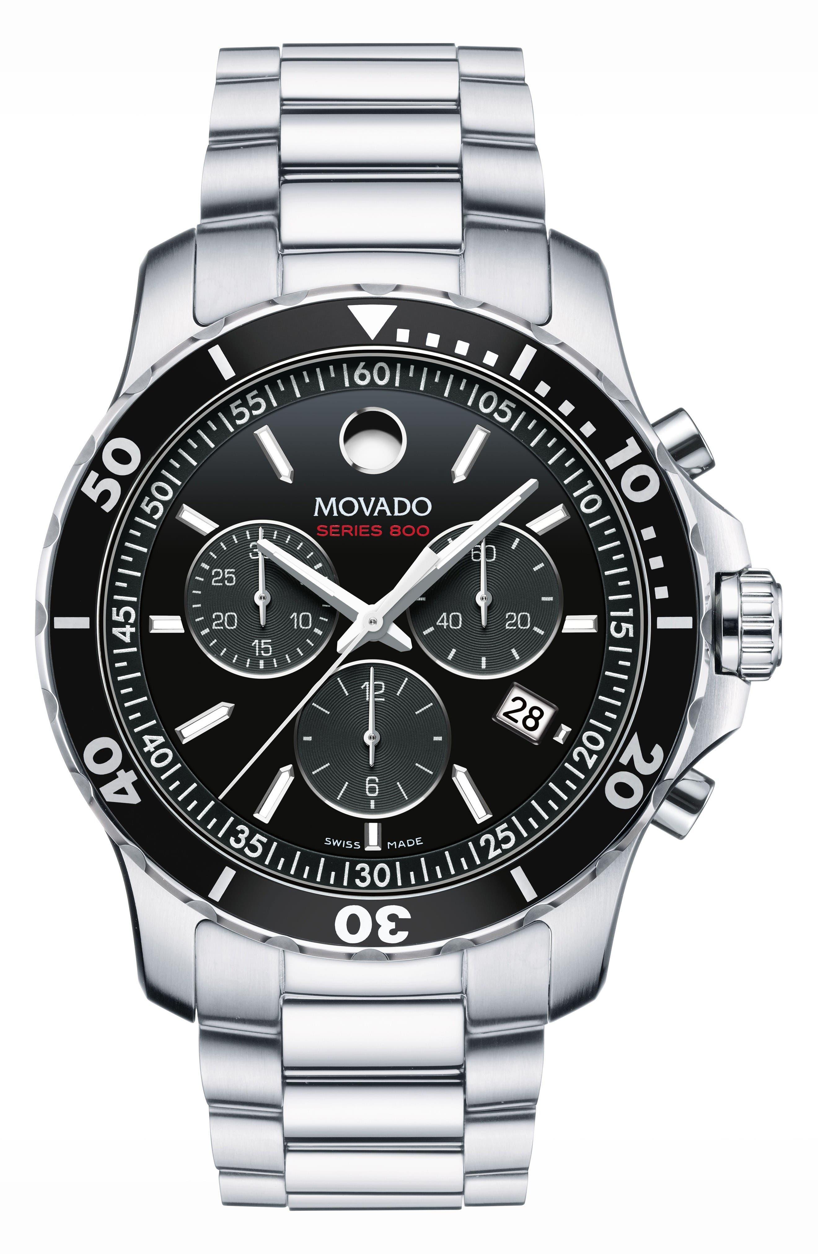 MOVADO Series 800 Chronograph Bracelet Watch, 42mm