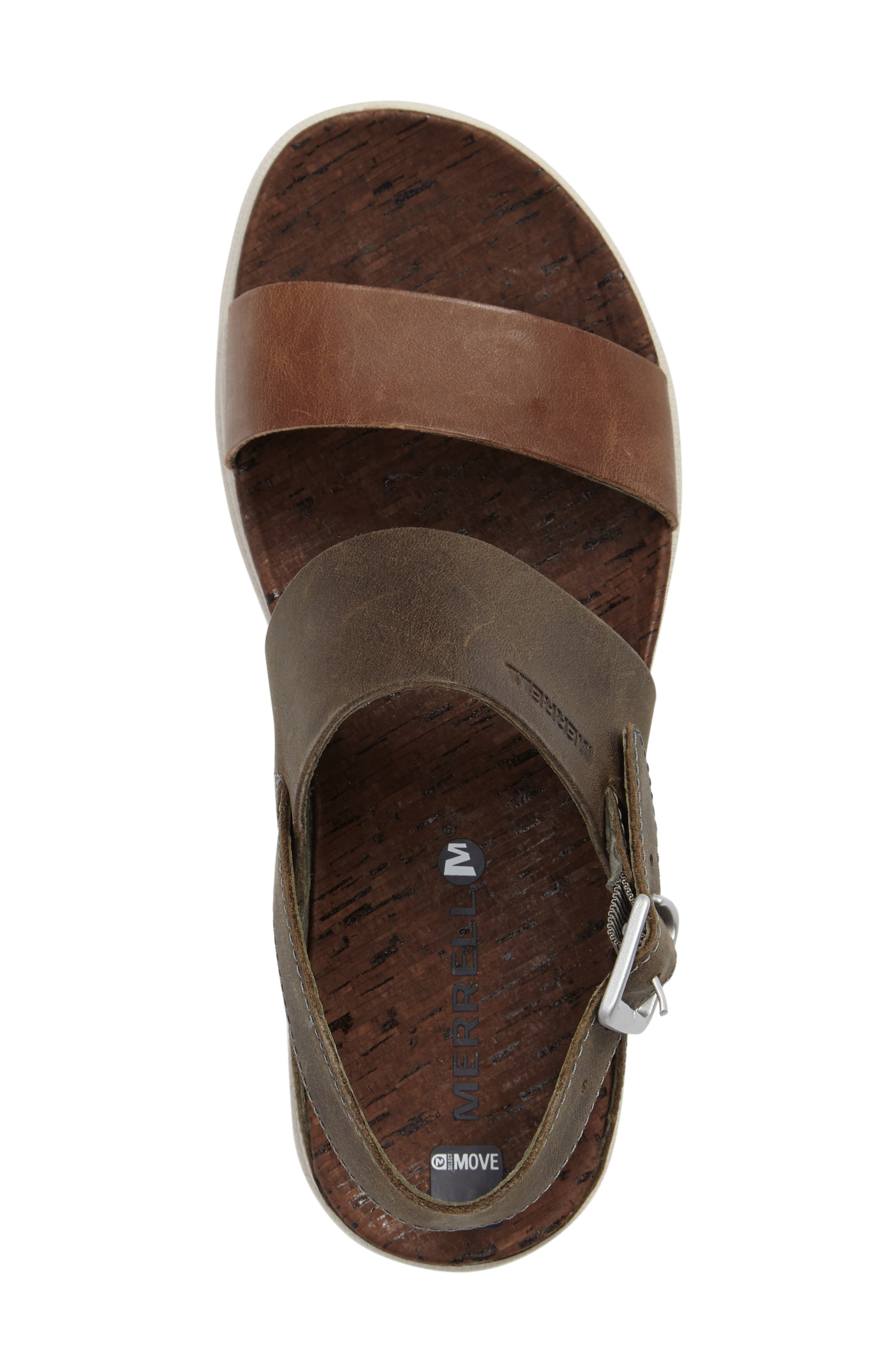 'Around Town' Slingback Sandal,                             Alternate thumbnail 3, color,                             Vertiver Leather