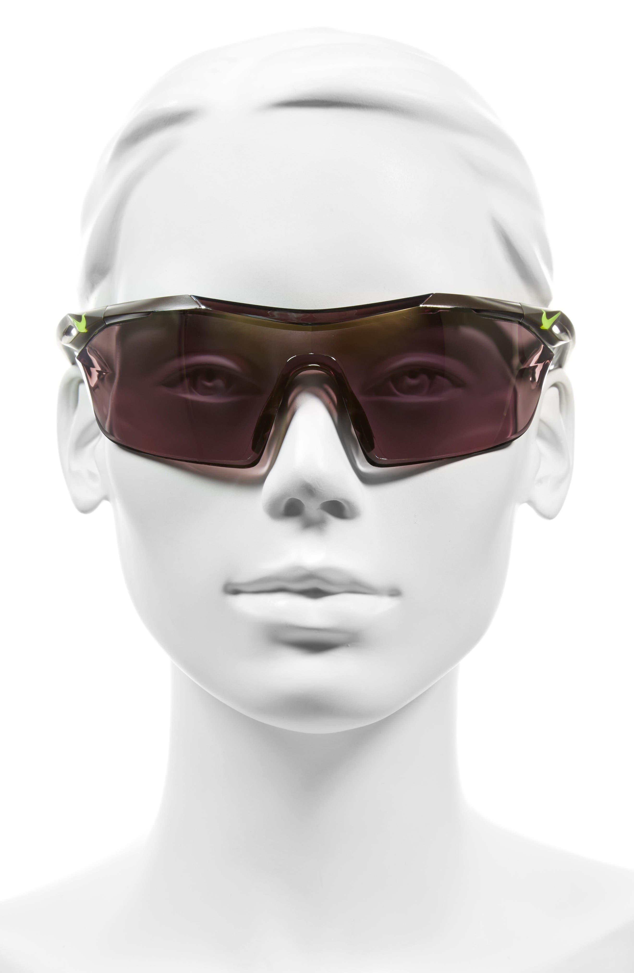 Vaporwing Elite 90mm Running Sunglasses,                             Alternate thumbnail 2, color,                             Cargo Khaki/ Volt