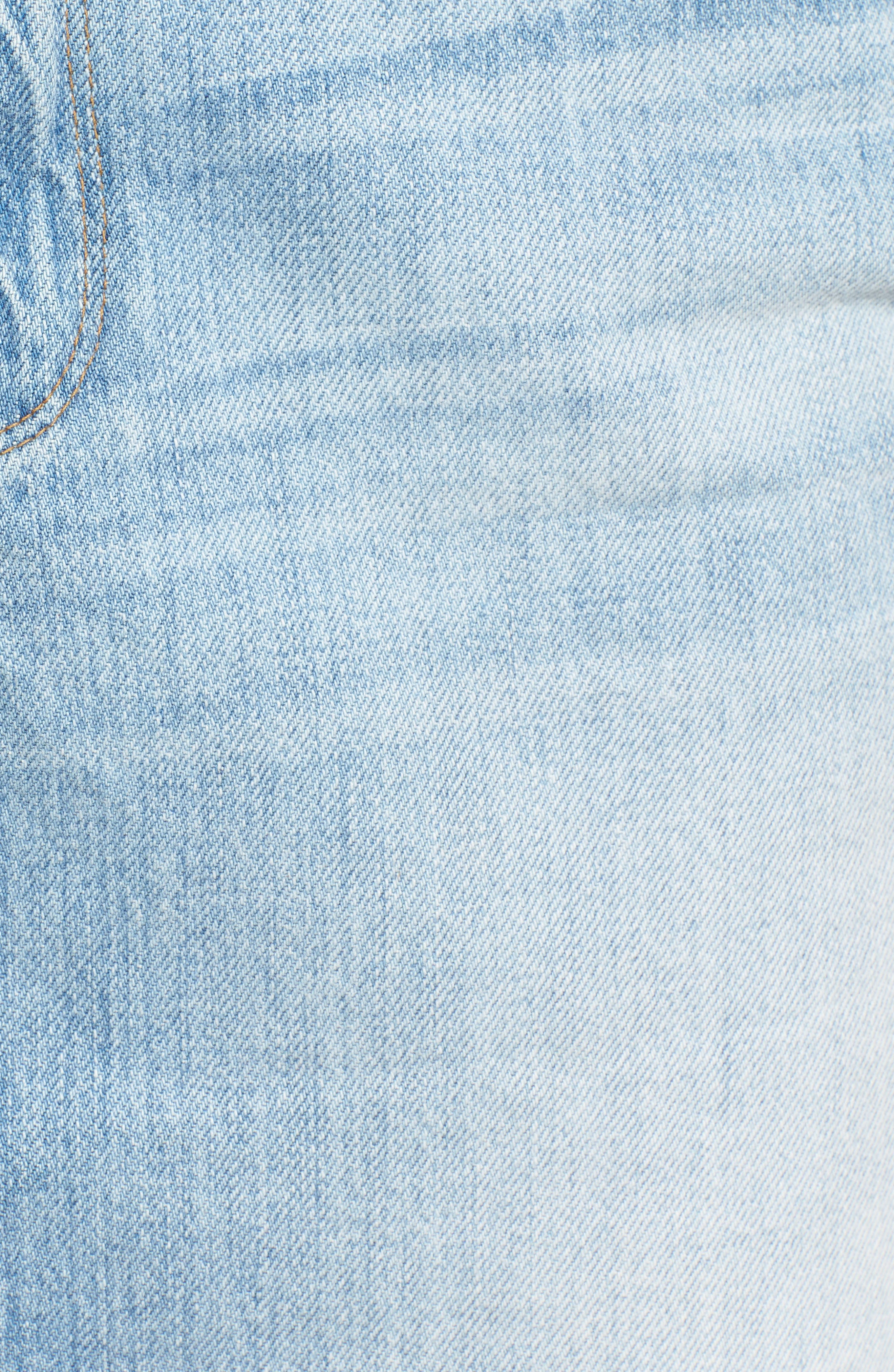 The Mini High Waist Denim Miniskirt,                             Alternate thumbnail 5, color,                             Blue033