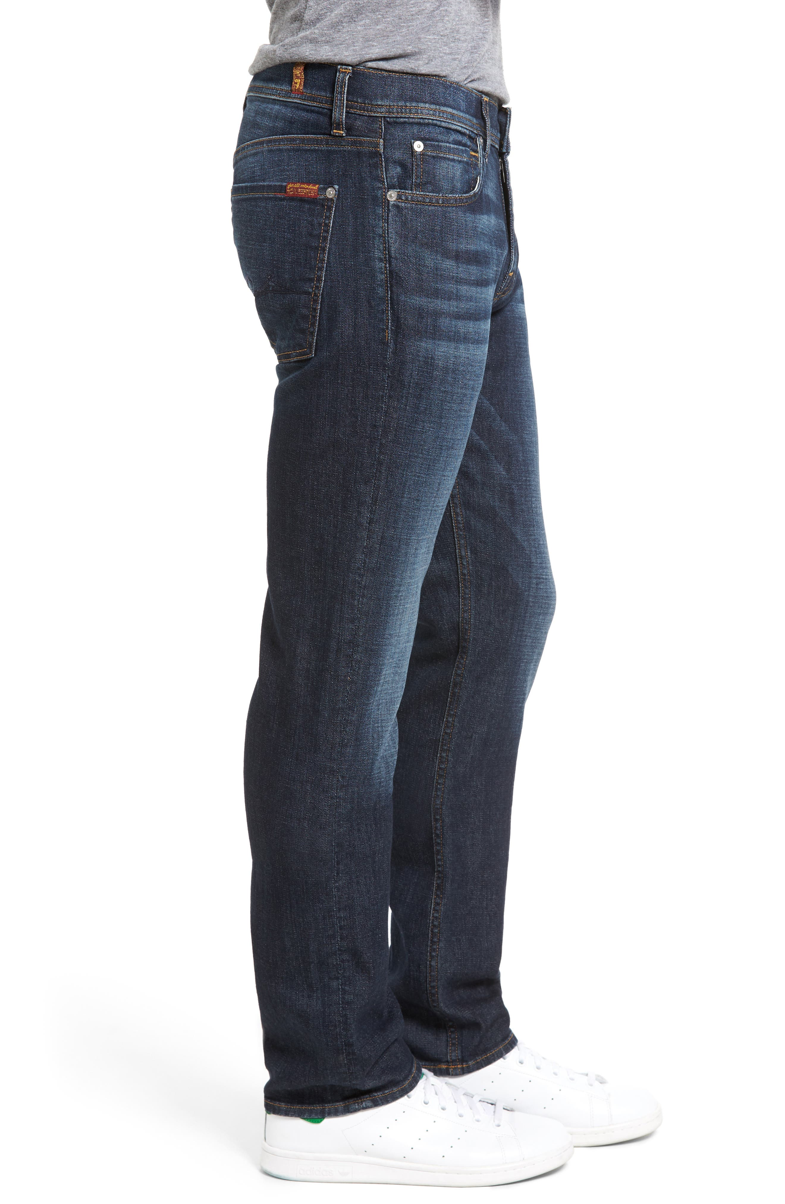 Standard Straight Fit Jeans,                             Alternate thumbnail 3, color,                             Foster