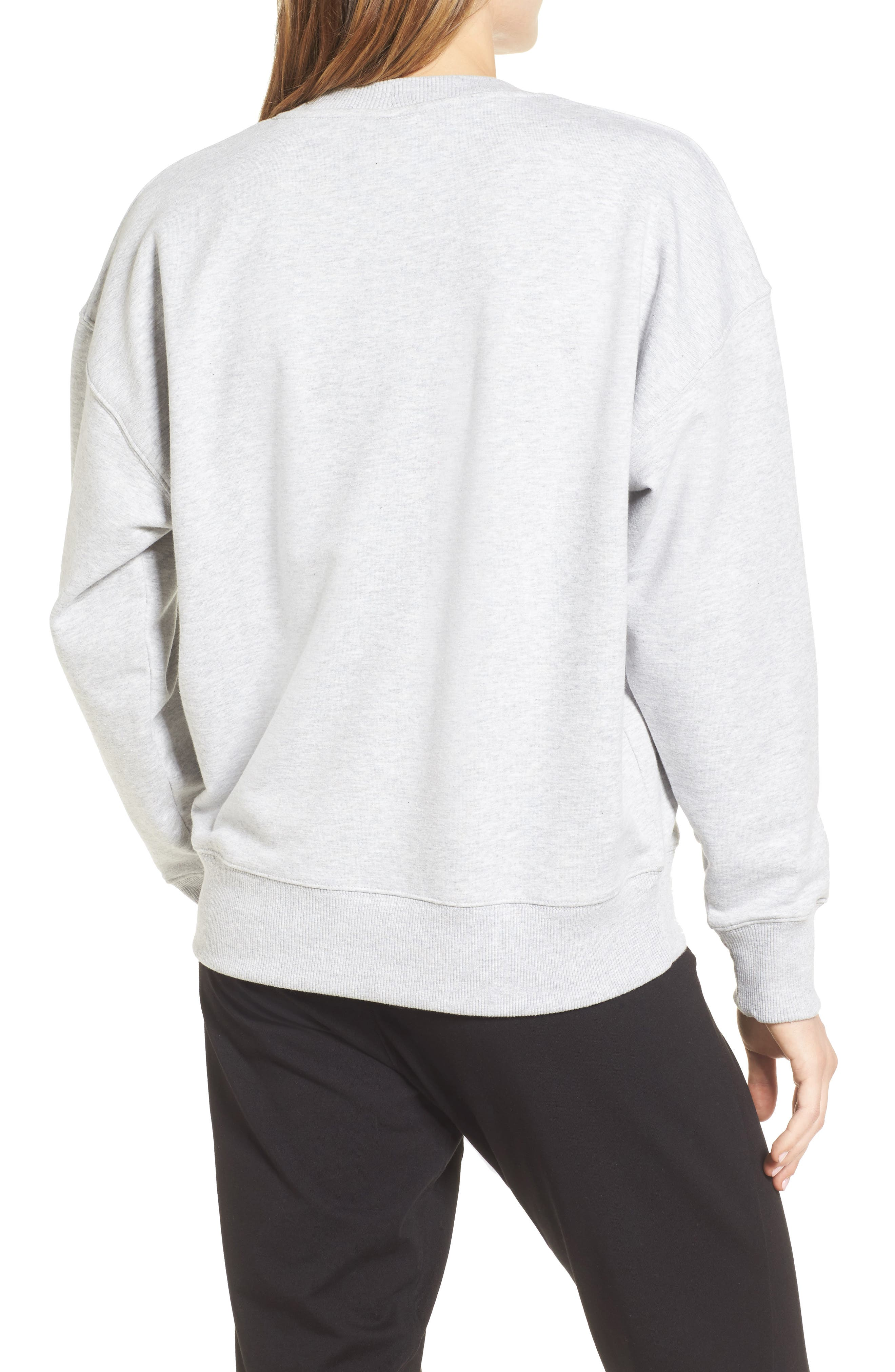Logo Sweatshirt,                             Alternate thumbnail 2, color,                             Light Grey Marl