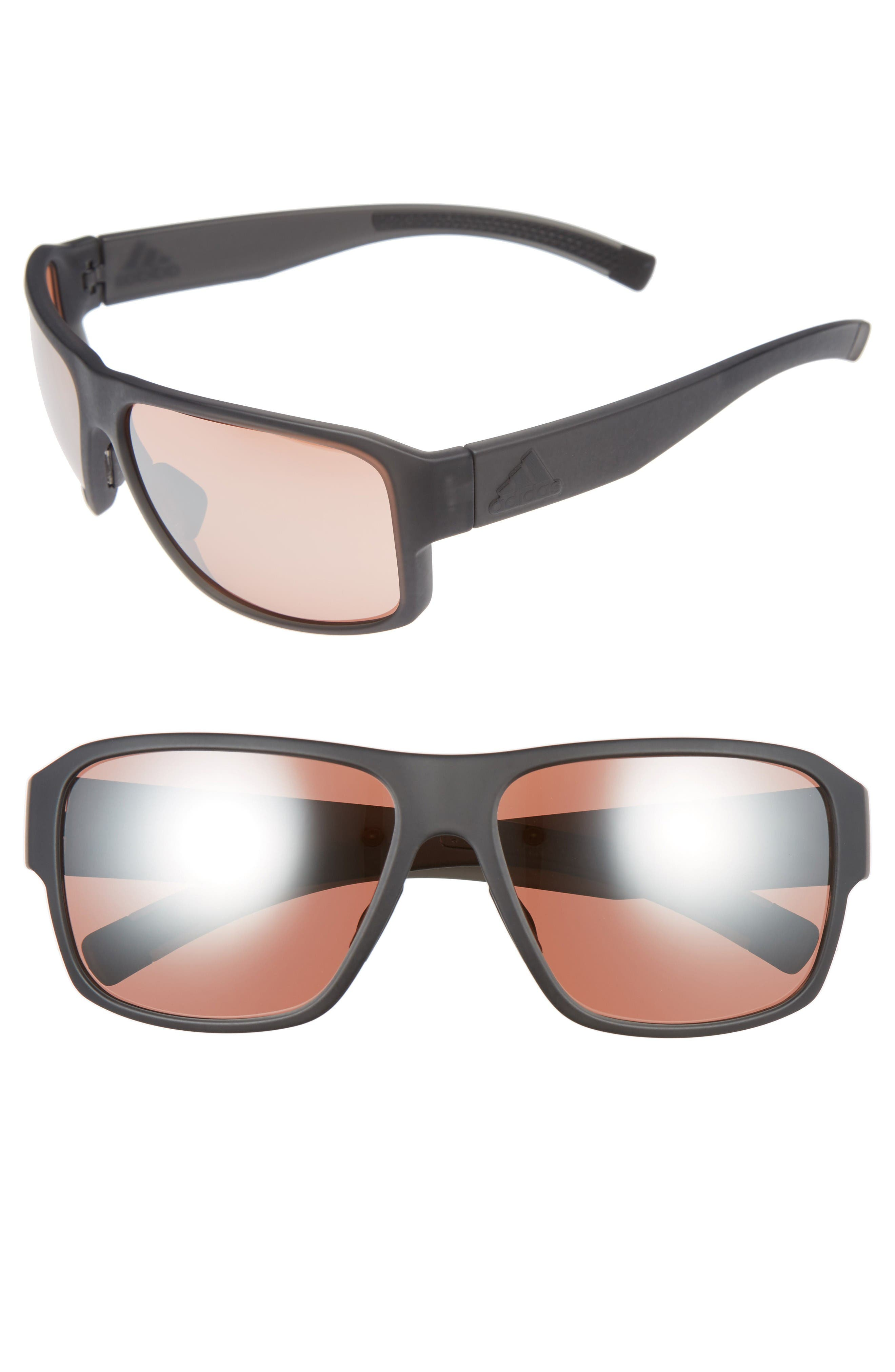Jaysor 60mm Sunglasses,                         Main,                         color, Dark Grey Matte/ Taupe