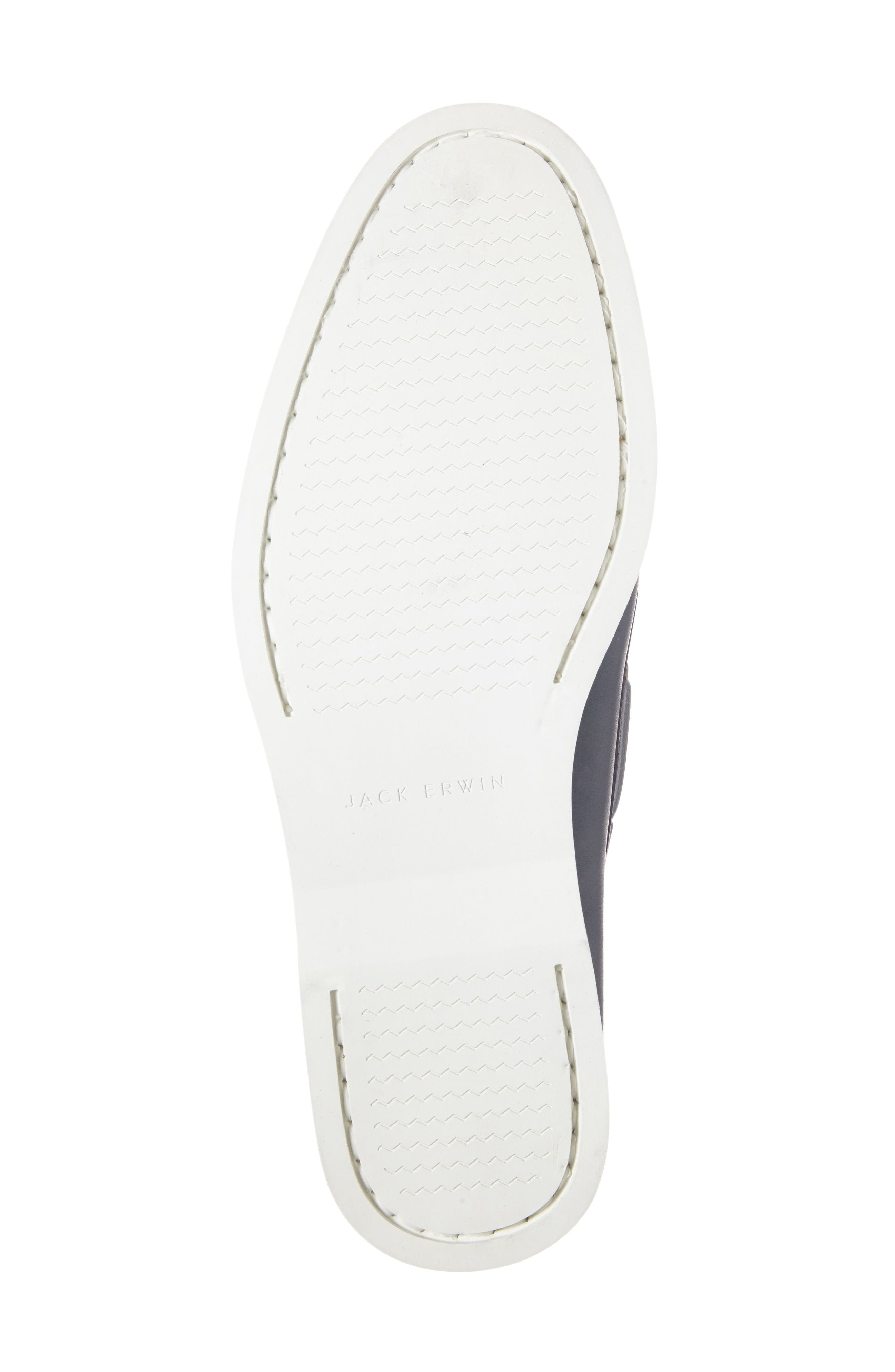 Cooper Boat Shoe,                             Alternate thumbnail 4, color,                             Navy Leather