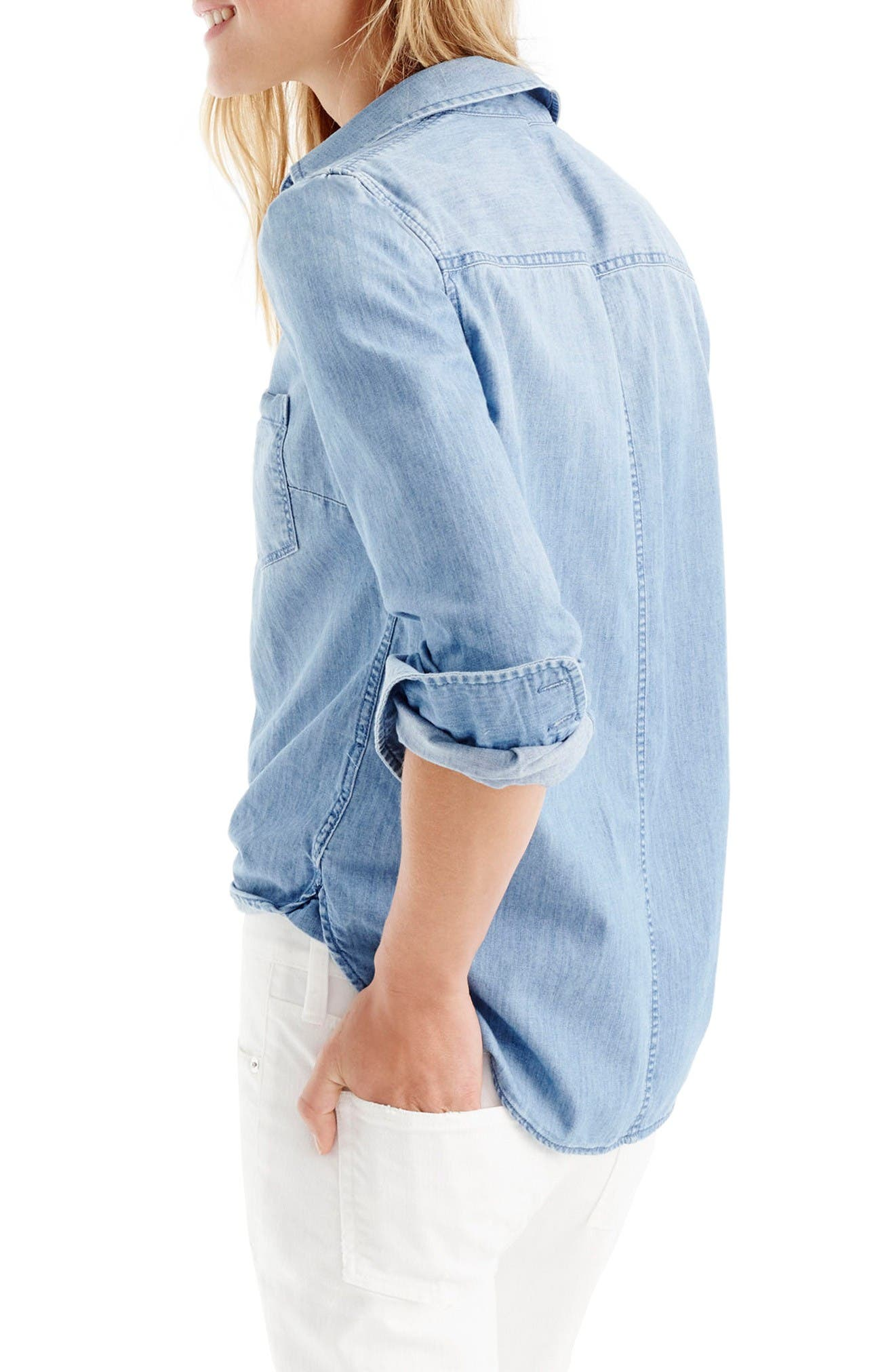 Always Chambray Shirt,                             Alternate thumbnail 6, color,                             Indigo