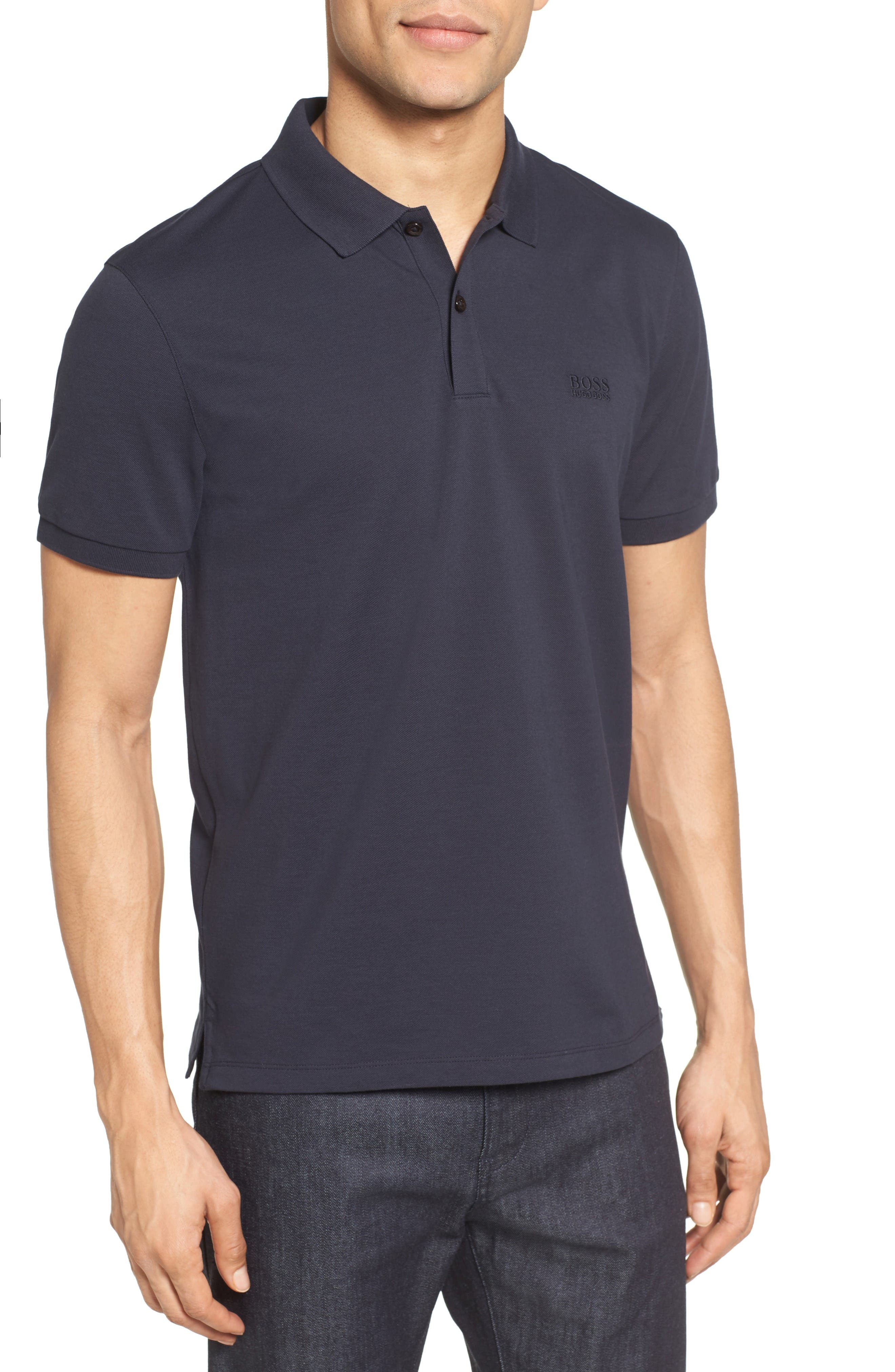 Alternate Image 1 Selected - BOSS 'Pallas' Regular Fit Logo Embroidered Polo Shirt