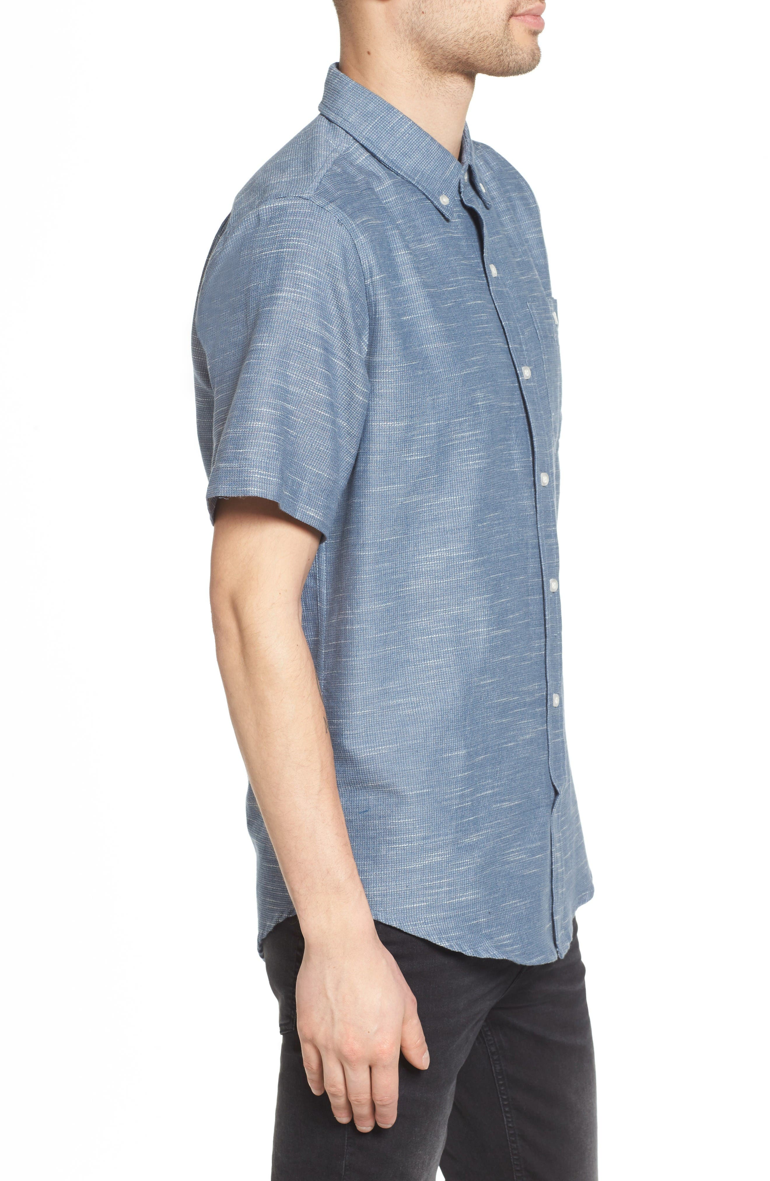 Textured Woven Shirt,                             Alternate thumbnail 3, color,                             Vintage In