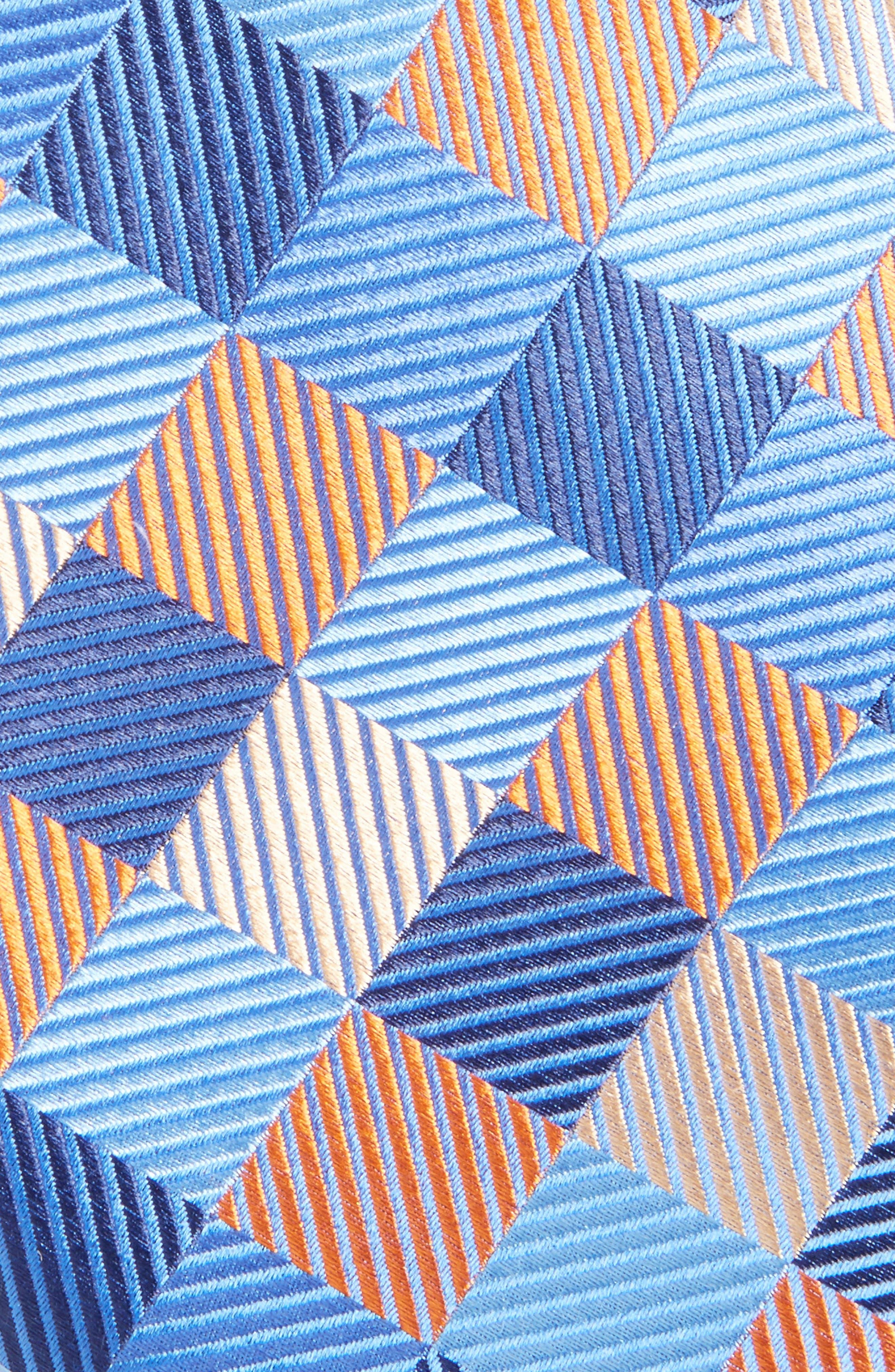 Check Silk Tie,                             Alternate thumbnail 2, color,                             Orange