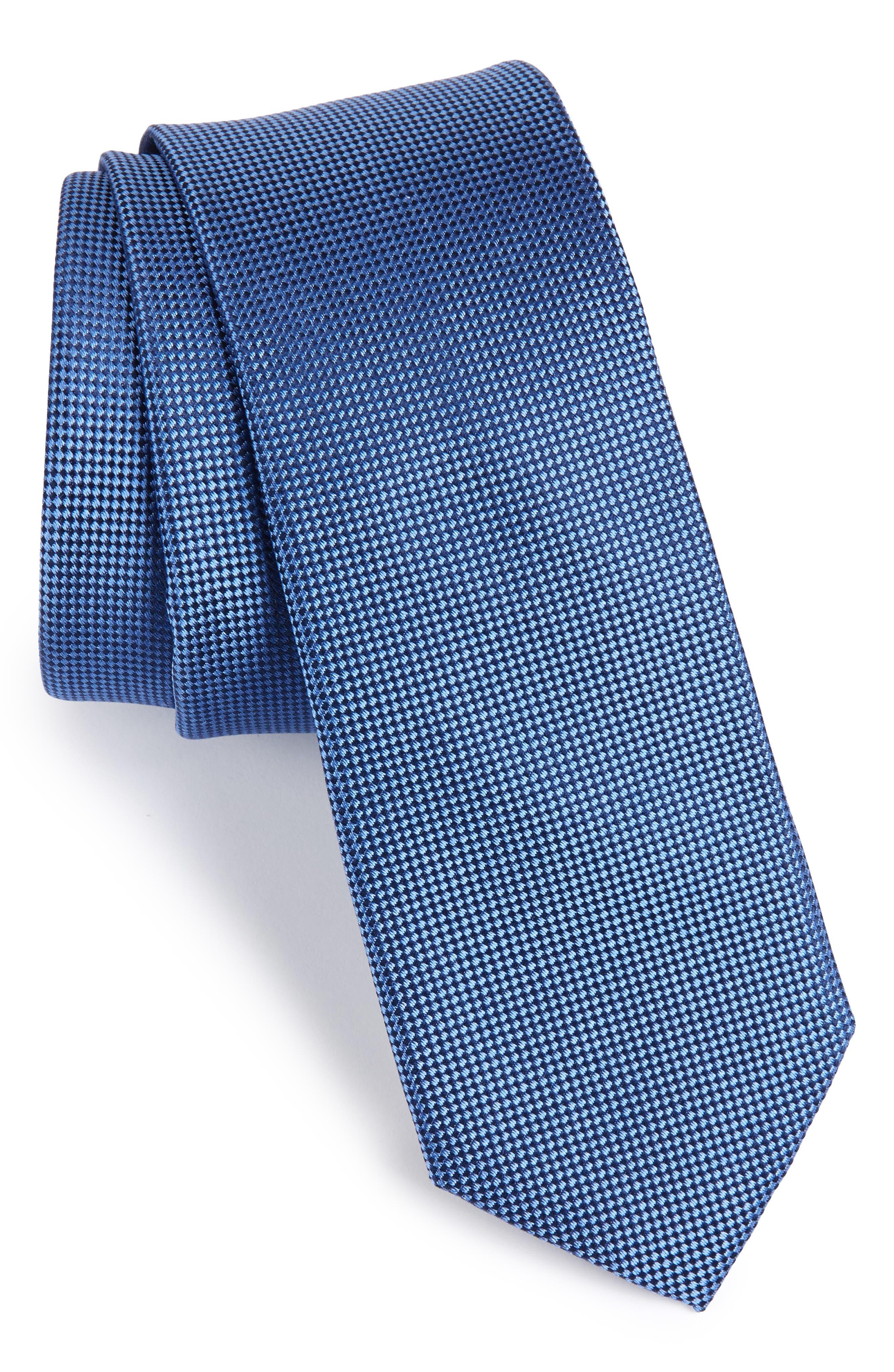 Nordstrom Men's Shop Oxford Solid Silk Skinny Tie