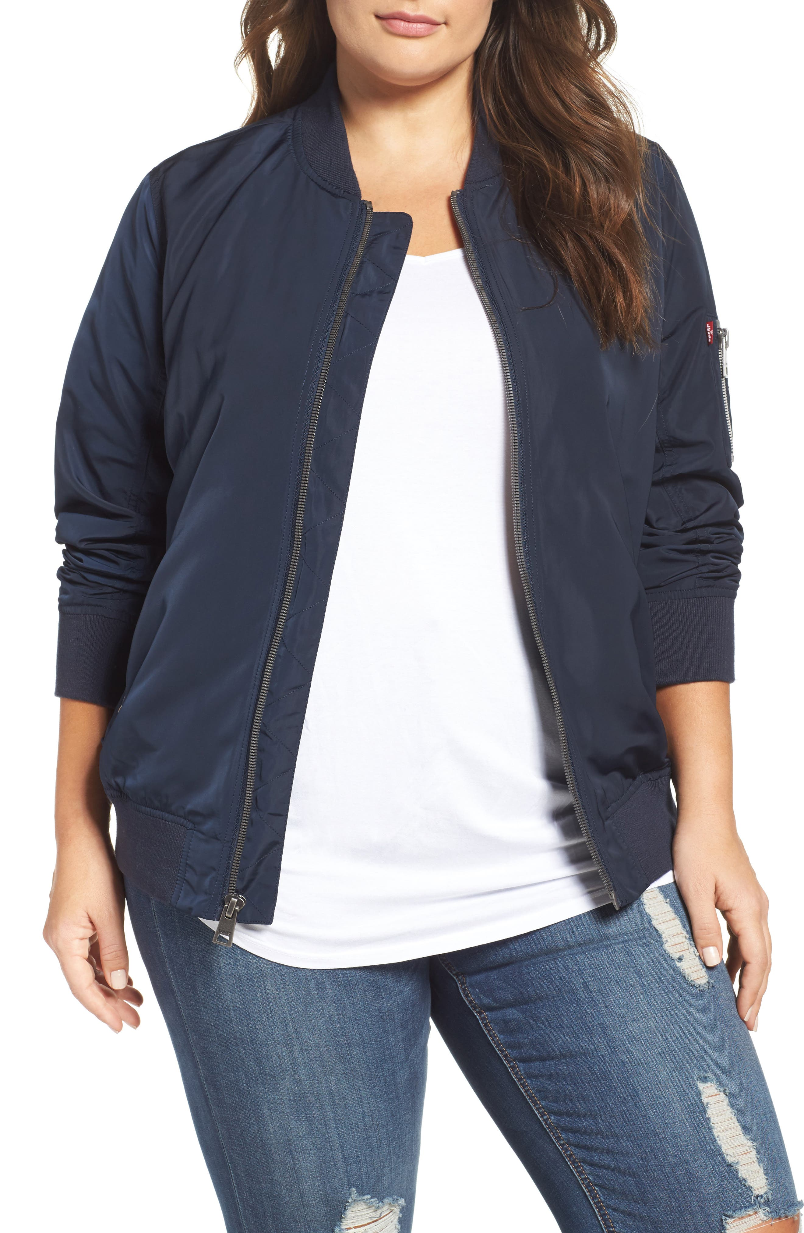 LEVIS<SUP>®</SUP> MA-1 Satin Bomber Jacket