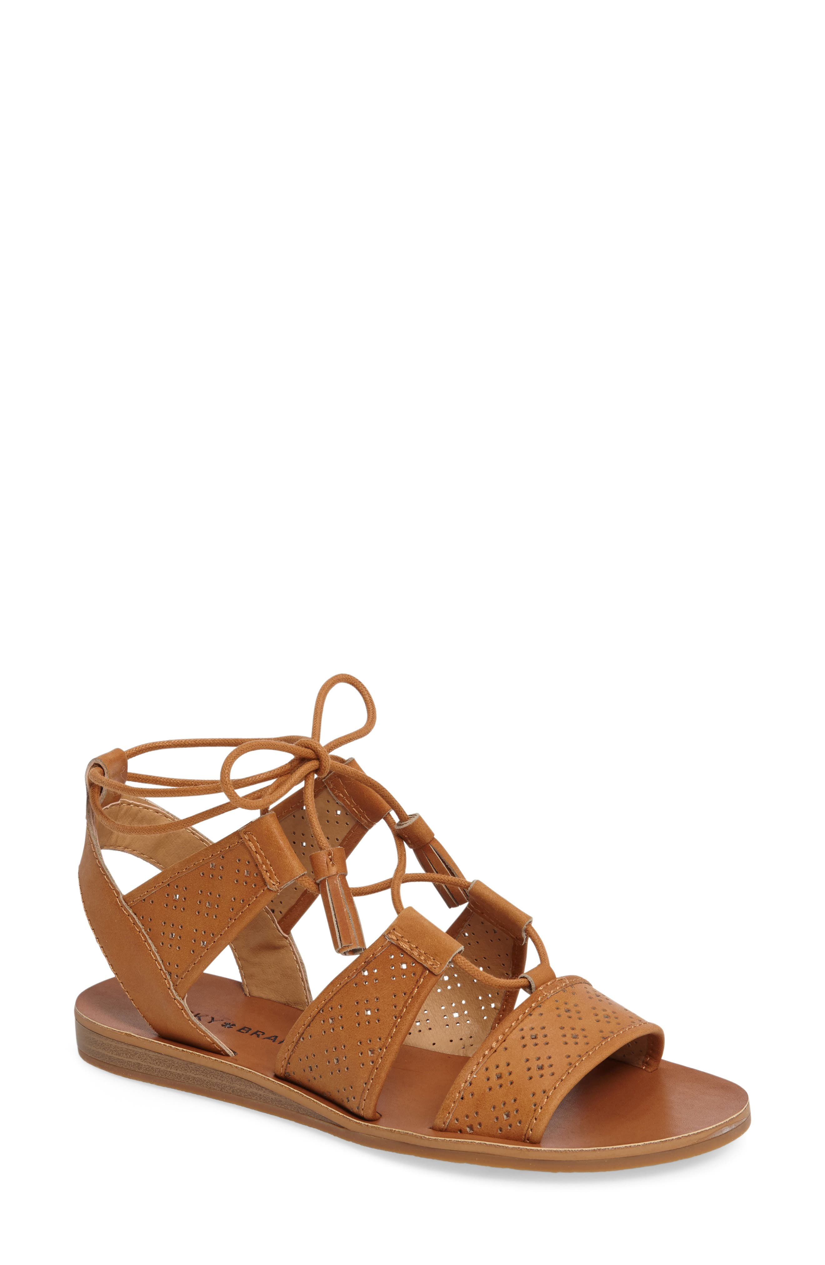 Brenny Sandal,                             Main thumbnail 1, color,                             Cafe Leather