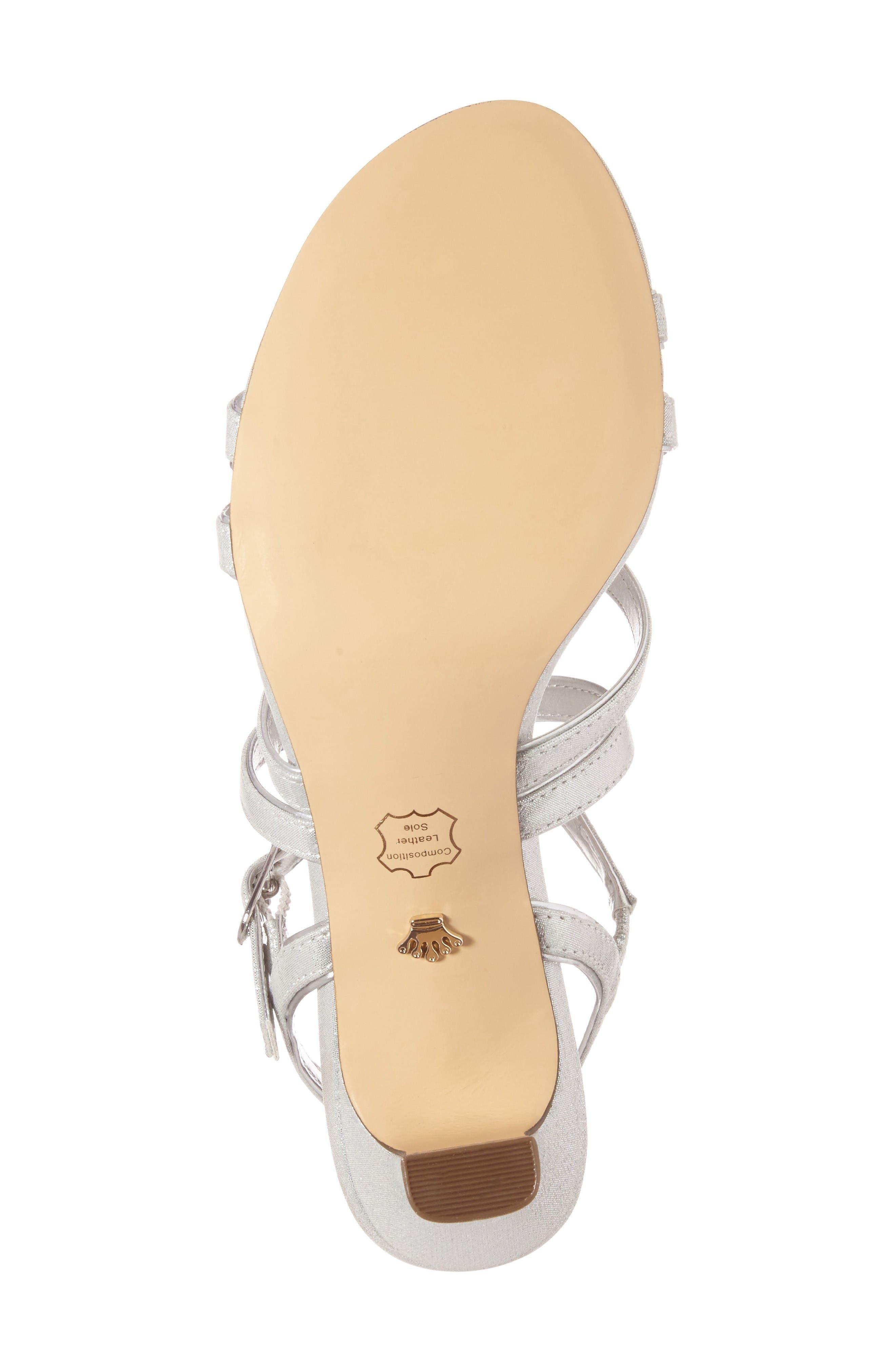 Alternate Image 4  - Nina Genaya Strappy Evening Sandal (Women)