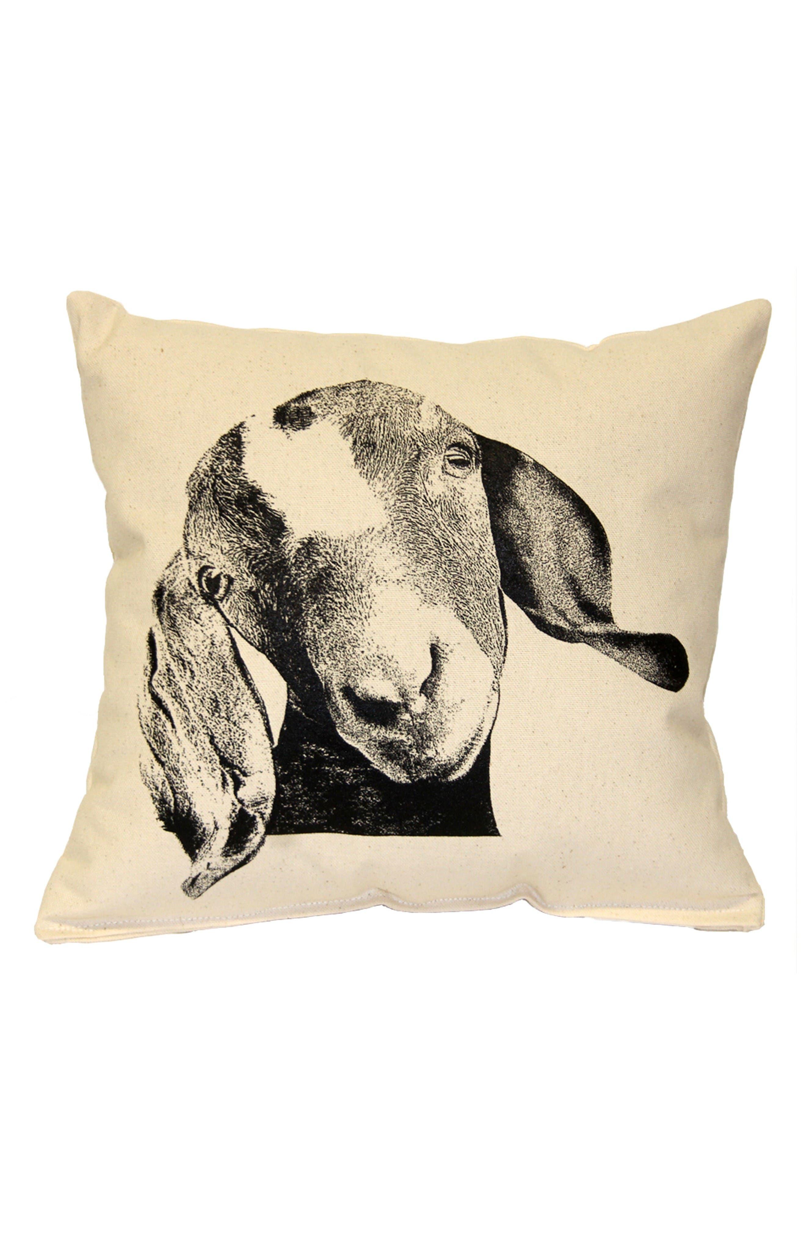Animal Accent Pillow,                             Main thumbnail 1, color,                             Goat