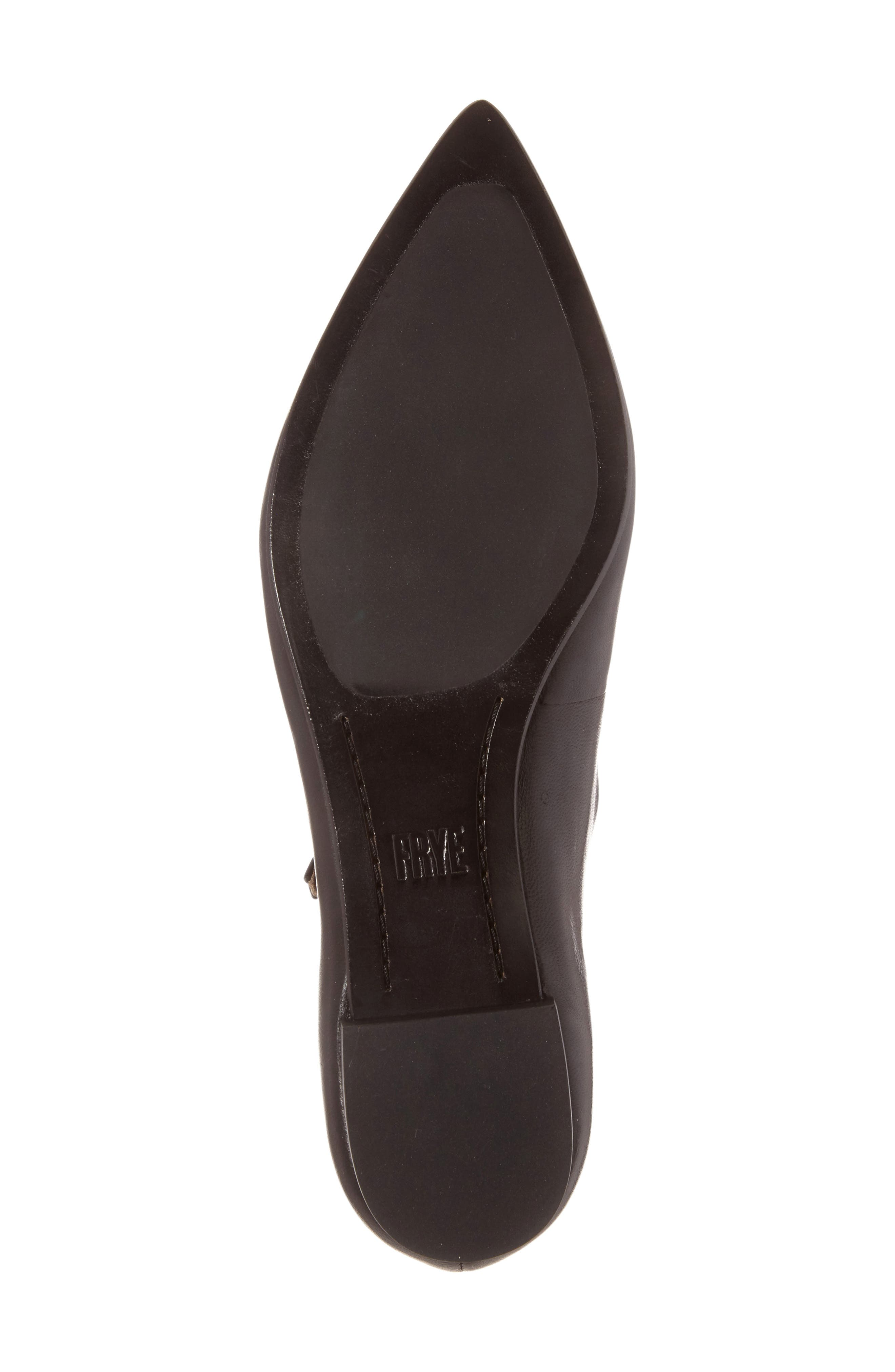 Sienna Cross Ballet Flat,                             Alternate thumbnail 4, color,                             Black