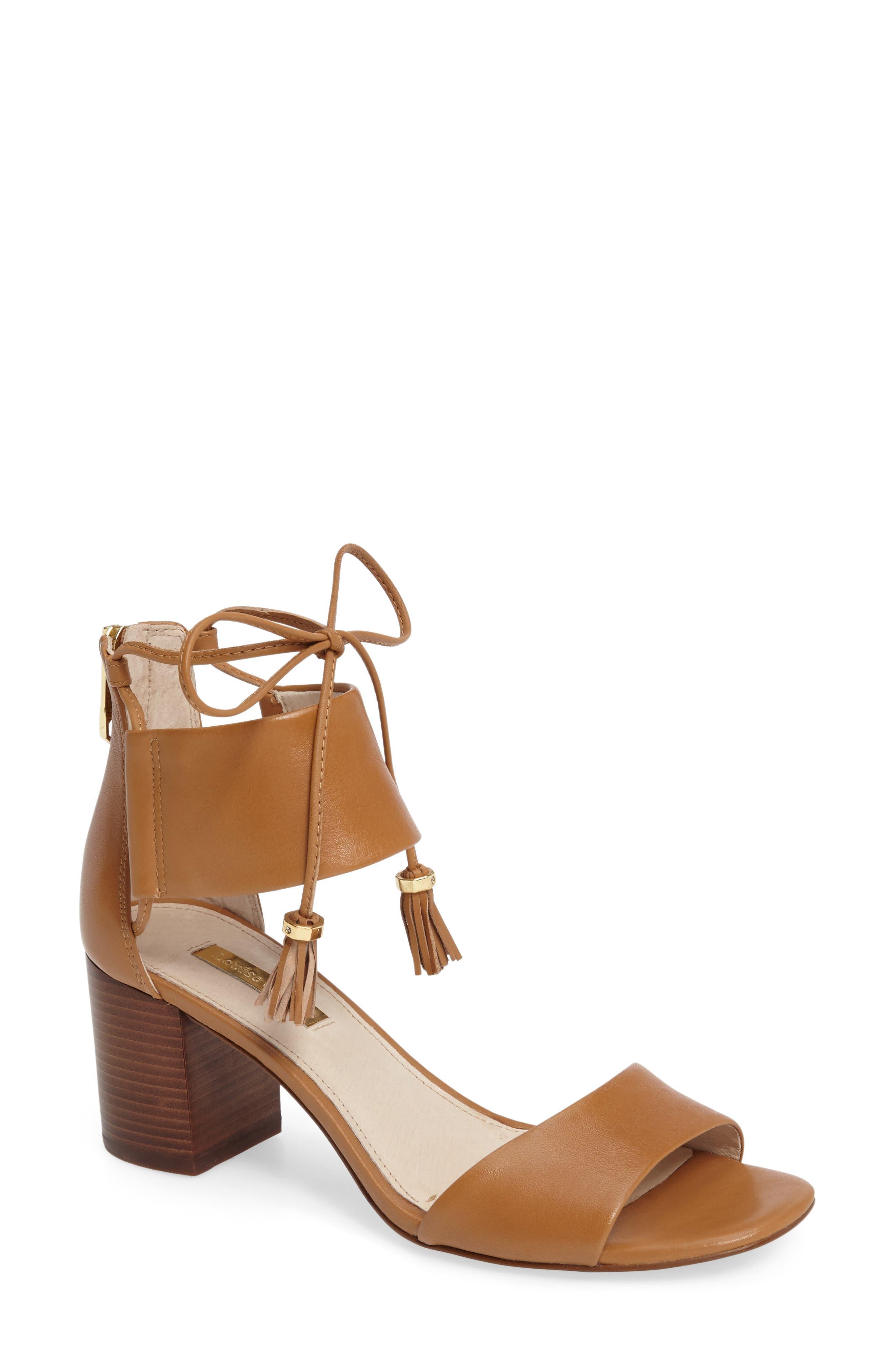 Keegan Block Heel Sandal,                         Main,                         color, True Tan Leather